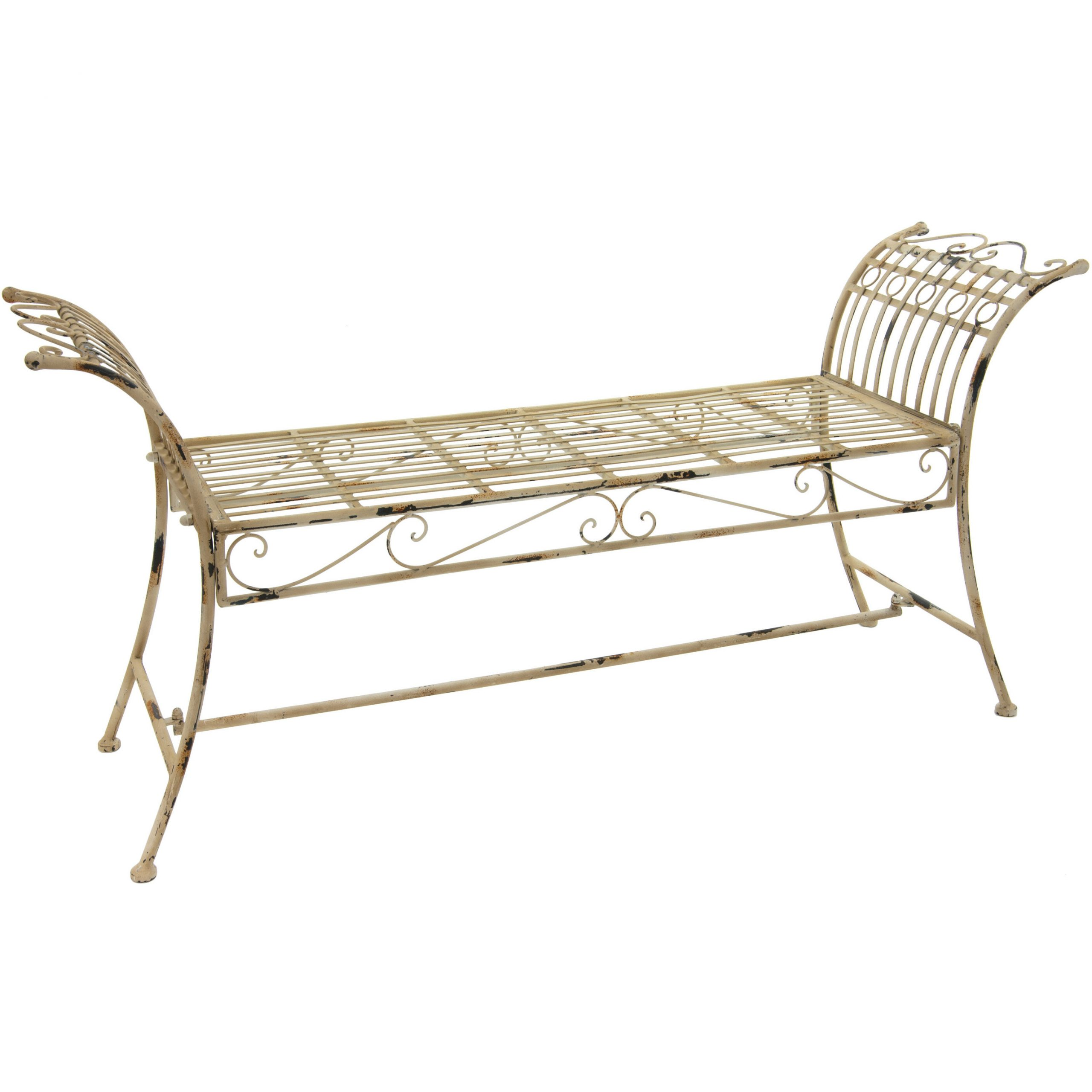 Current Norrie Metal Garden Benches Regarding Bohn Rustic Iron Garden Bench (View 4 of 30)