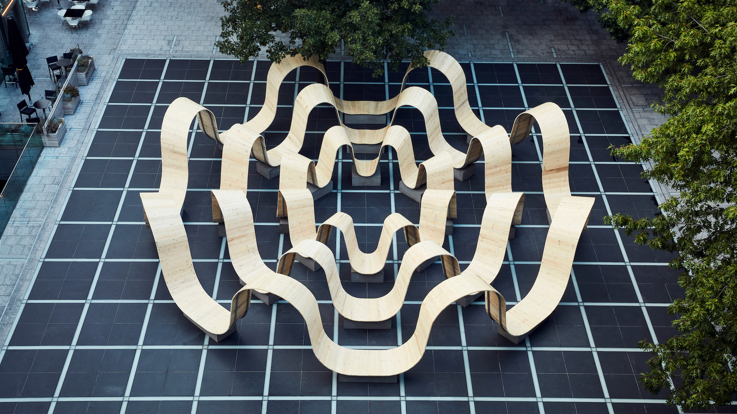 Current Pauls Steel Garden Benches With Paul Cocksedge Creates Undulating Communal Bench In London (View 29 of 30)