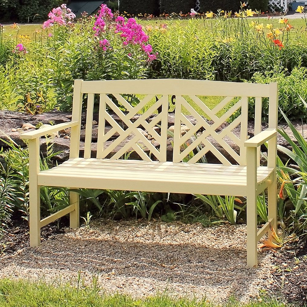 Current Pin On Outdoor Decor Ideas Throughout Shelbie Wooden Garden Benches (View 14 of 30)