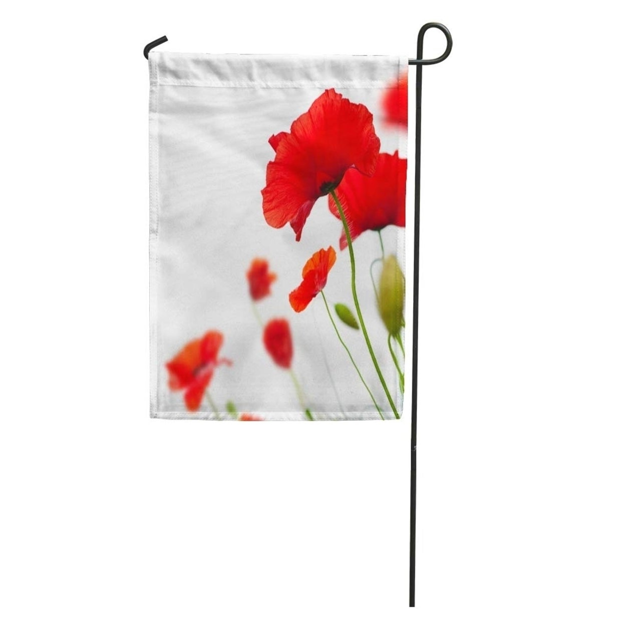 Current Wilde Poppies Ceramic Garden Stools Throughout Green Flower Many Red Poppies Angle Of Page Poppy Field Wild Garden Flag Decorative Flag House Banner 28x40 Inch (View 15 of 30)