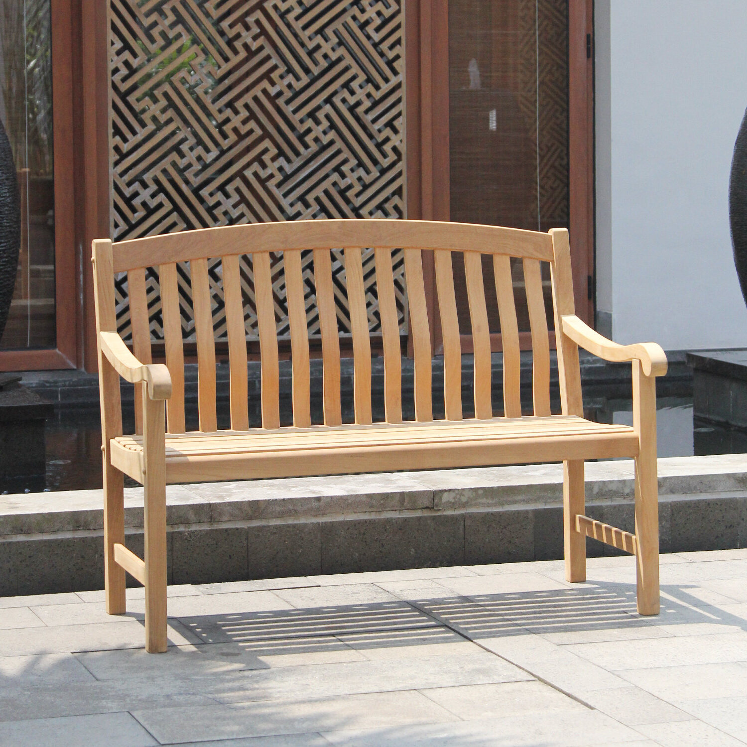 Cynthia Teak Garden Bench With Regard To Most Recent Wallie Teak Garden Benches (View 6 of 30)