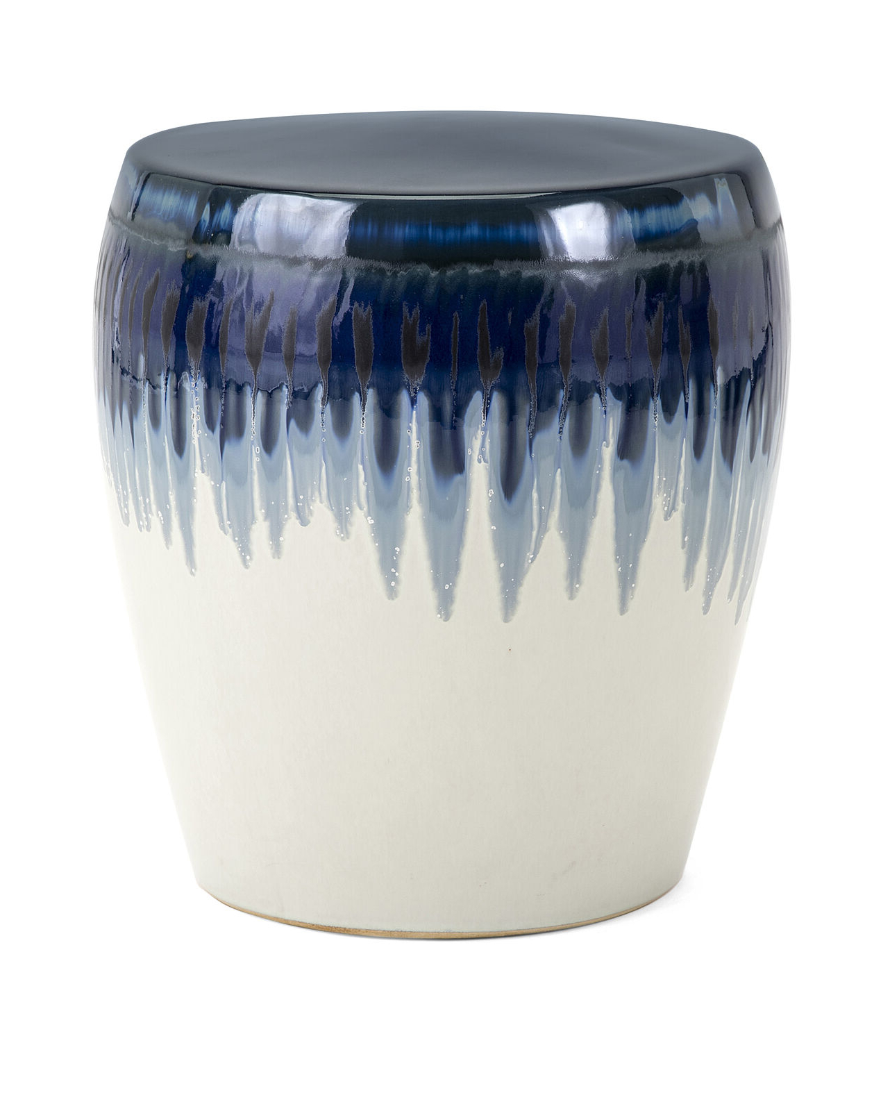 Details About Imax Hamako Ceramic Garden Stool In Blue Finish 13724 Inside Newest Janke Floral Garden Stools (View 20 of 30)