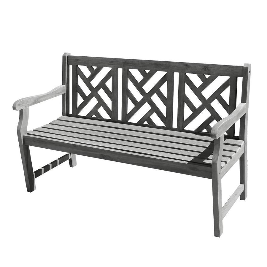Elsner Acacia Garden Benches In Widely Used Vifah 57 In W X 36 In L Dining Bench Lowes In (View 15 of 30)