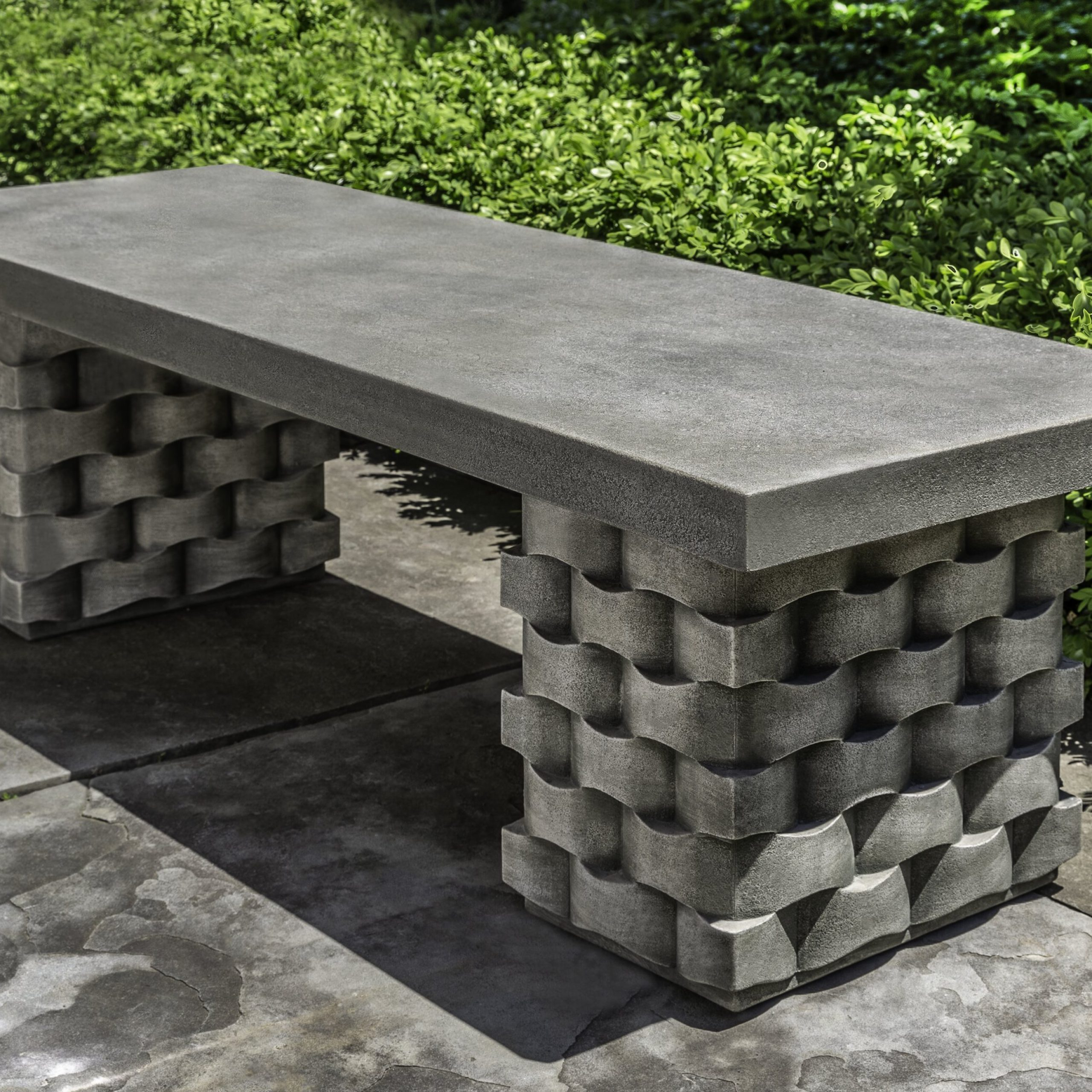 Elsner Acacia Garden Benches With Regard To Famous August Grove Anaya Stone Garden Bench (View 27 of 30)