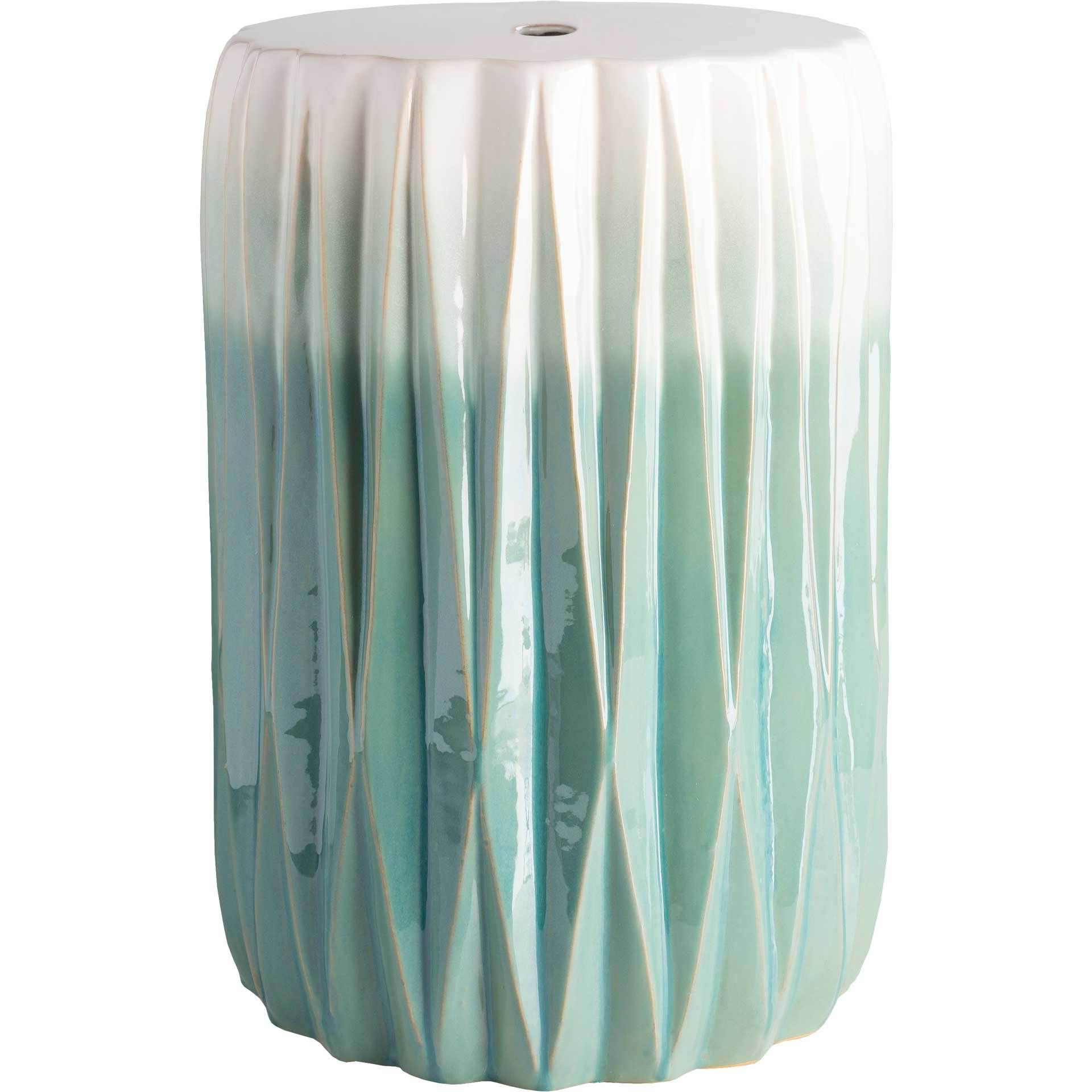 Famous Aloysius Ceramic Garden Stools Intended For Ayden Stool Aqua/white In (View 17 of 30)