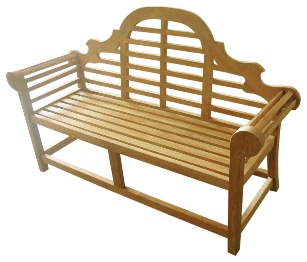 Famous Avoca Wood Garden Benches Intended For D Art Collection Teak Lutyen Bench 3 Seater (View 28 of 30)