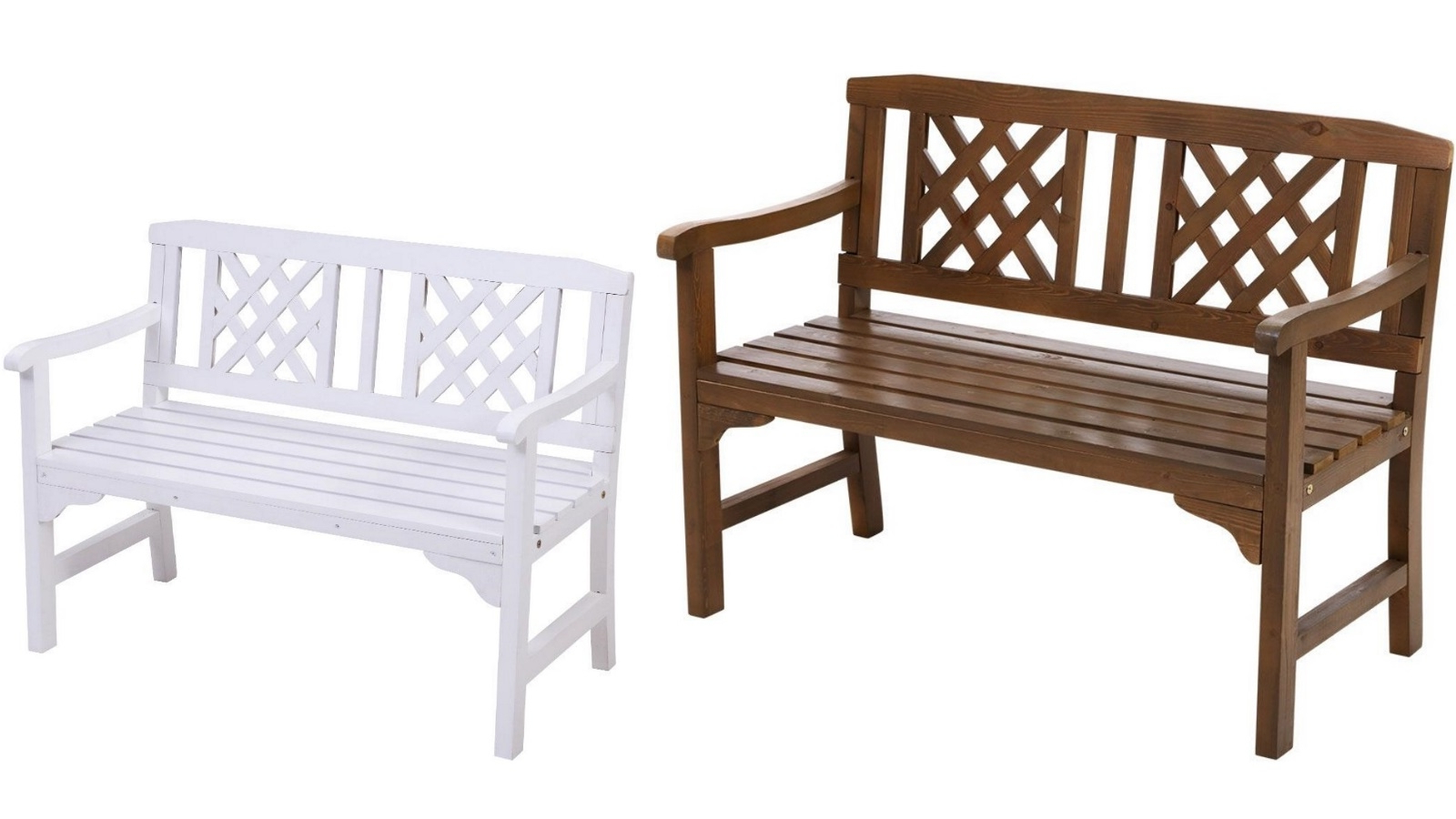 Famous Manchester Solid Wood Garden Benches Throughout Gardeon 2 Seater Wooden Garden Bench Seat (View 7 of 30)