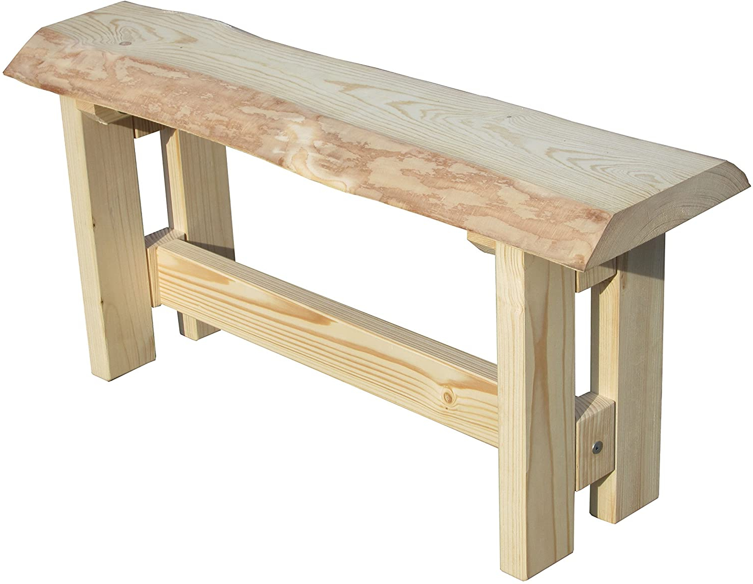Farm Tree Trunk Garden Bench 120 Cm Intended For Newest Ahana Wooden Garden Benches (View 16 of 30)