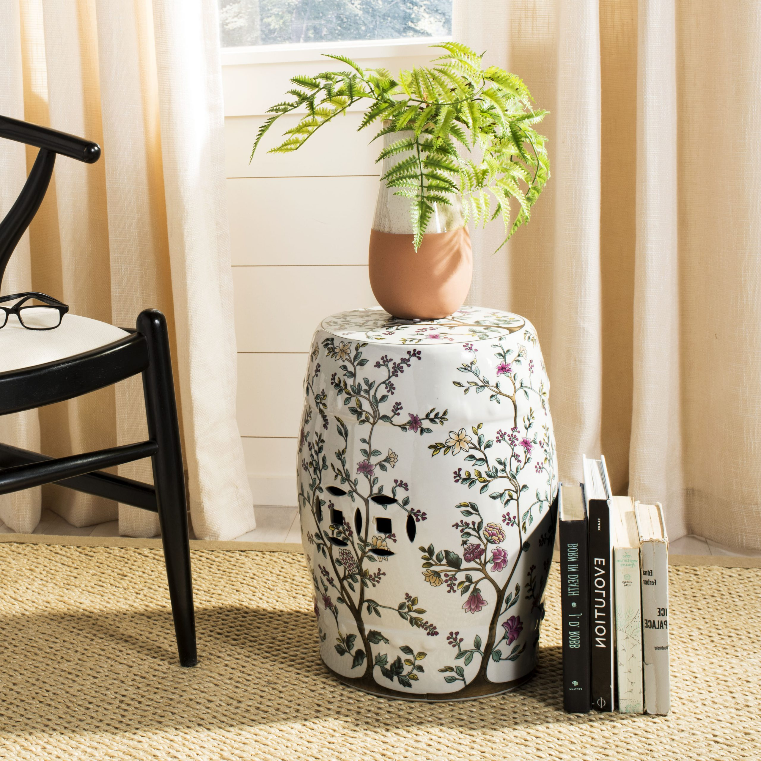 Fashionable Ceramic Garden Stool Inside Svendsen Ceramic Garden Stools (View 7 of 30)