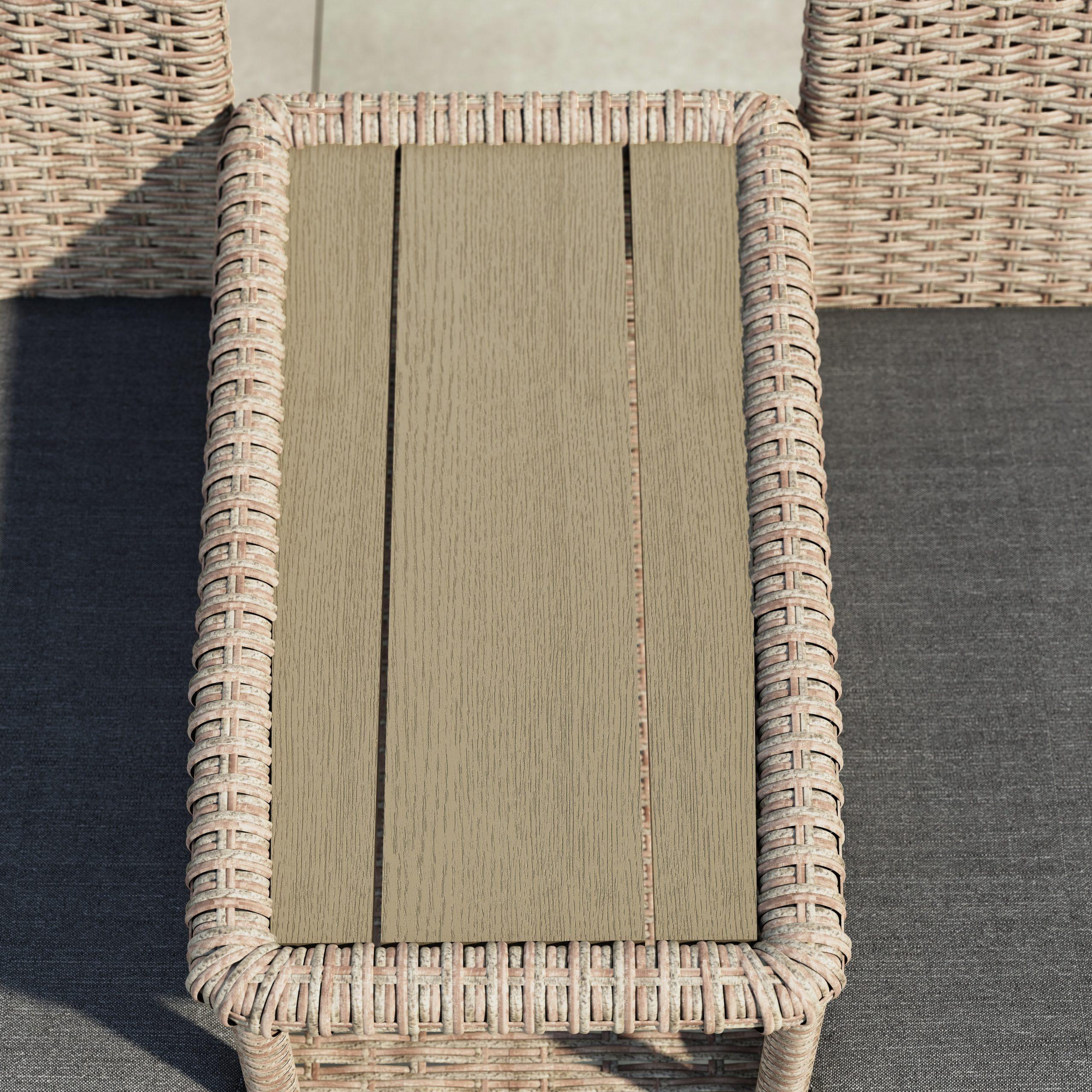 Fashionable Corvus Armitage Outdoor Wicker Tete A Tete Bench Throughout Wicker Tete A Tete Benches (View 13 of 30)