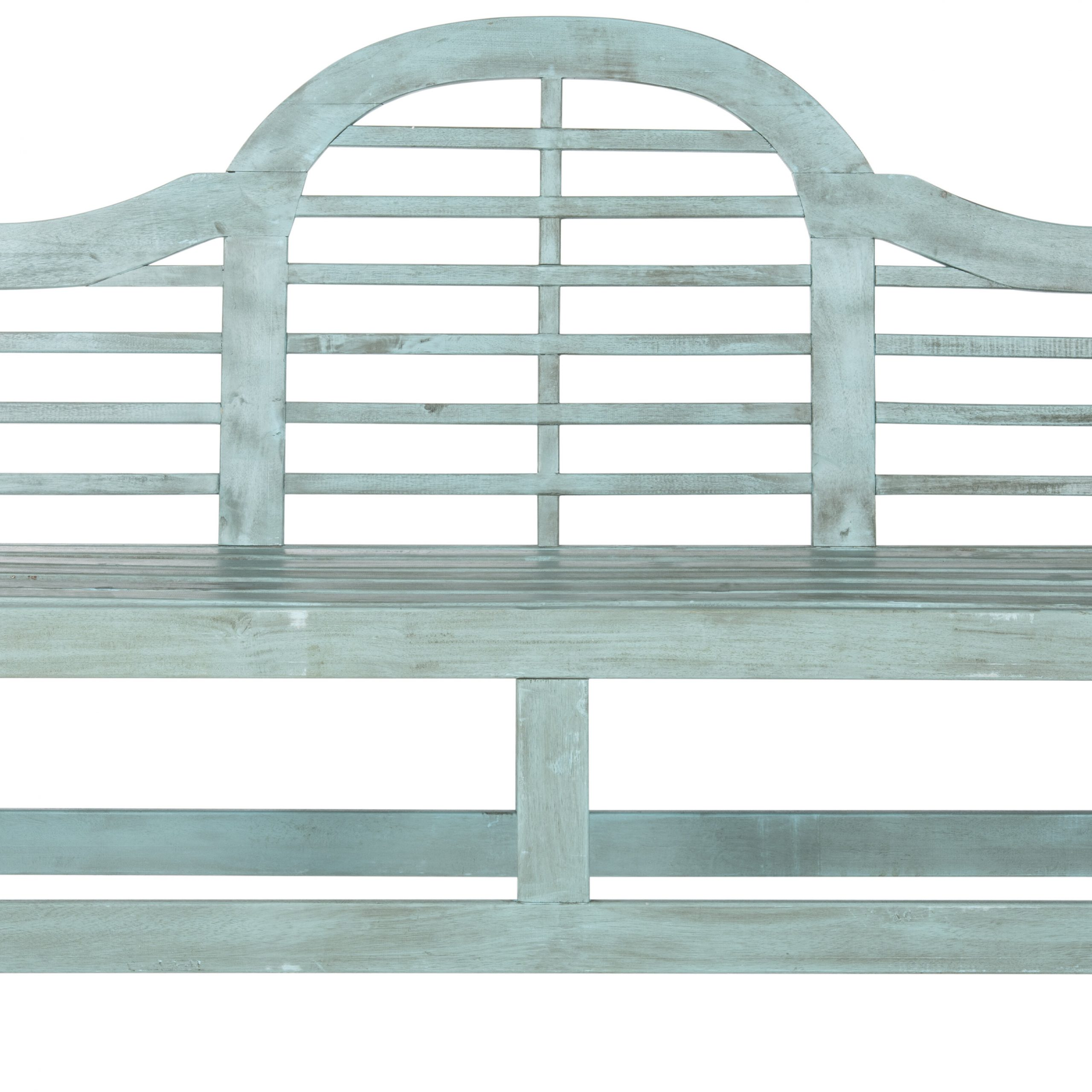 Fashionable Mae Wood Garden Bench With Zev Blue Fish Metal Garden Benches (View 2 of 30)