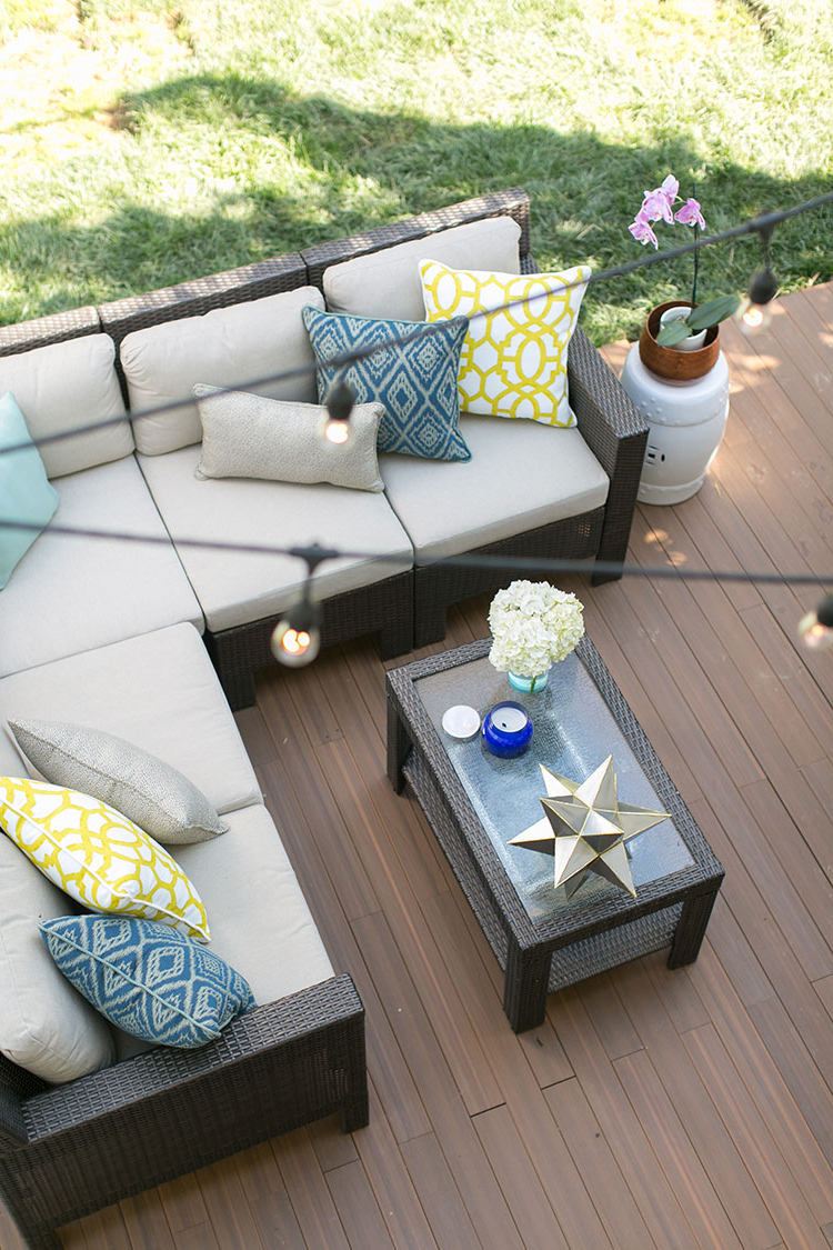 Fashionable Outdoor Entertaining Area: Drab Slab Now Fab Within Svendsen Ceramic Garden Stools (View 30 of 30)