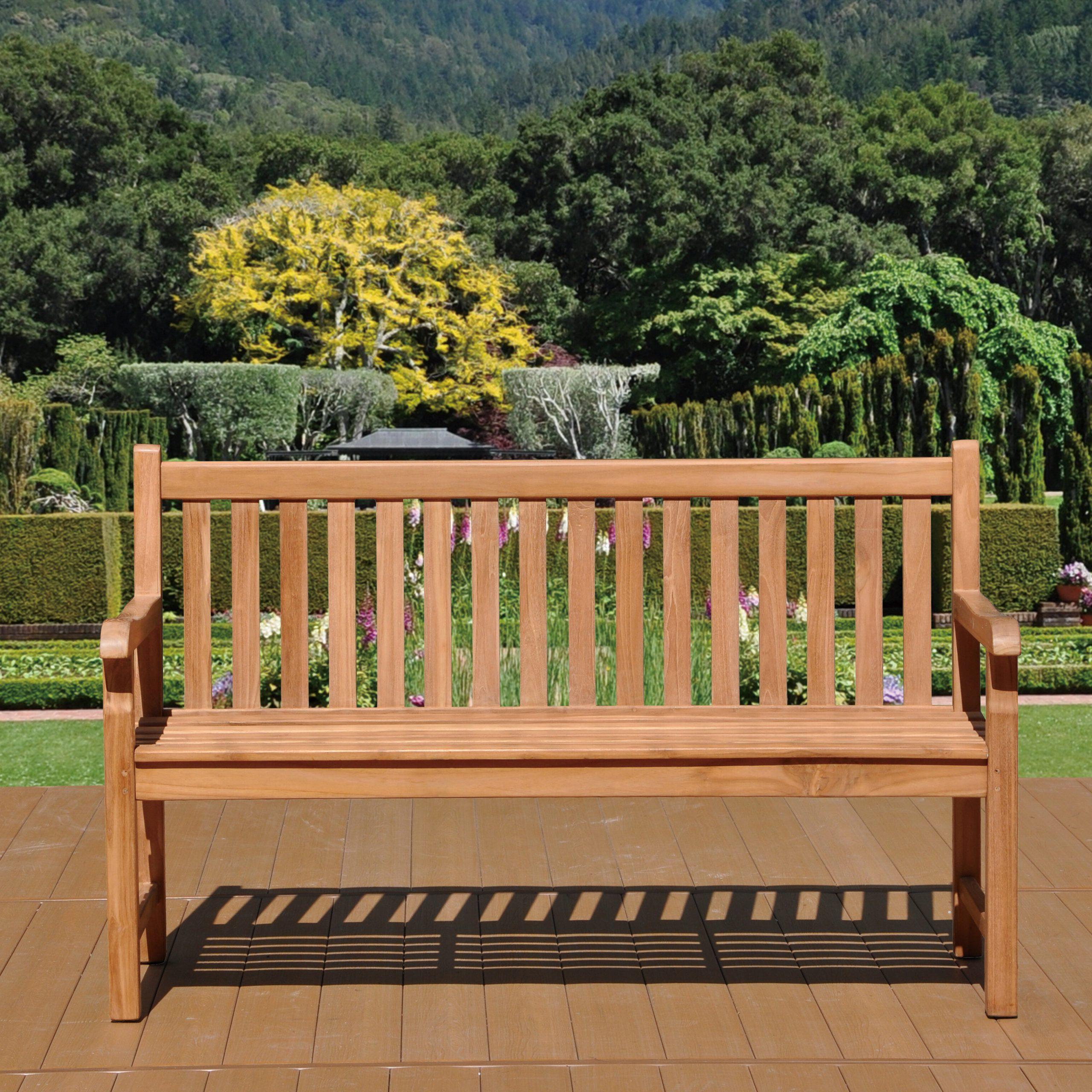 Fashionable Ruckus Teak Garden Bench Pertaining To Harpersfield Wooden Garden Benches (View 15 of 30)