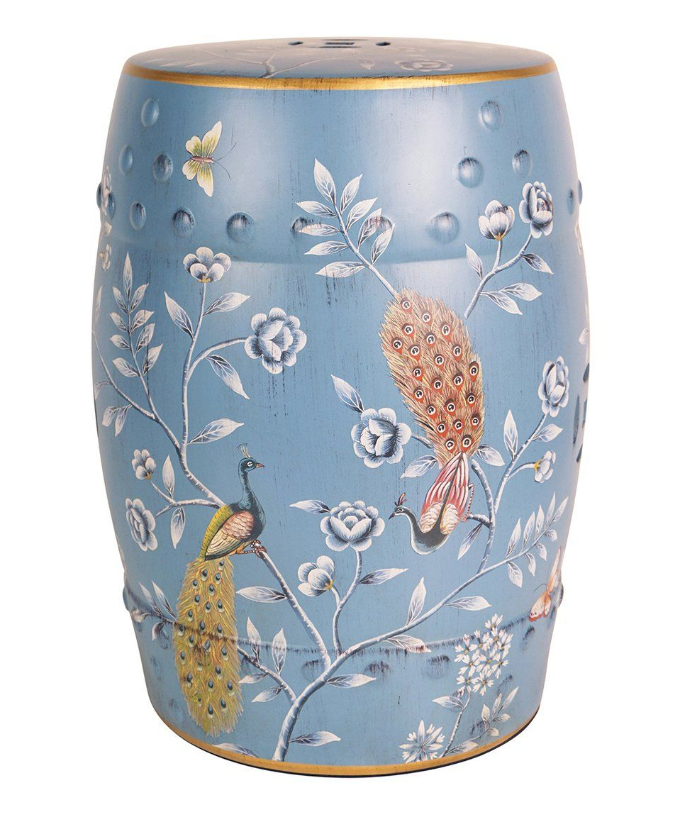 Fashionable Take A Look At This Blue Peacock Ceramic Garden Stool Today Pertaining To Lavin Ceramic Garden Stools (View 13 of 30)