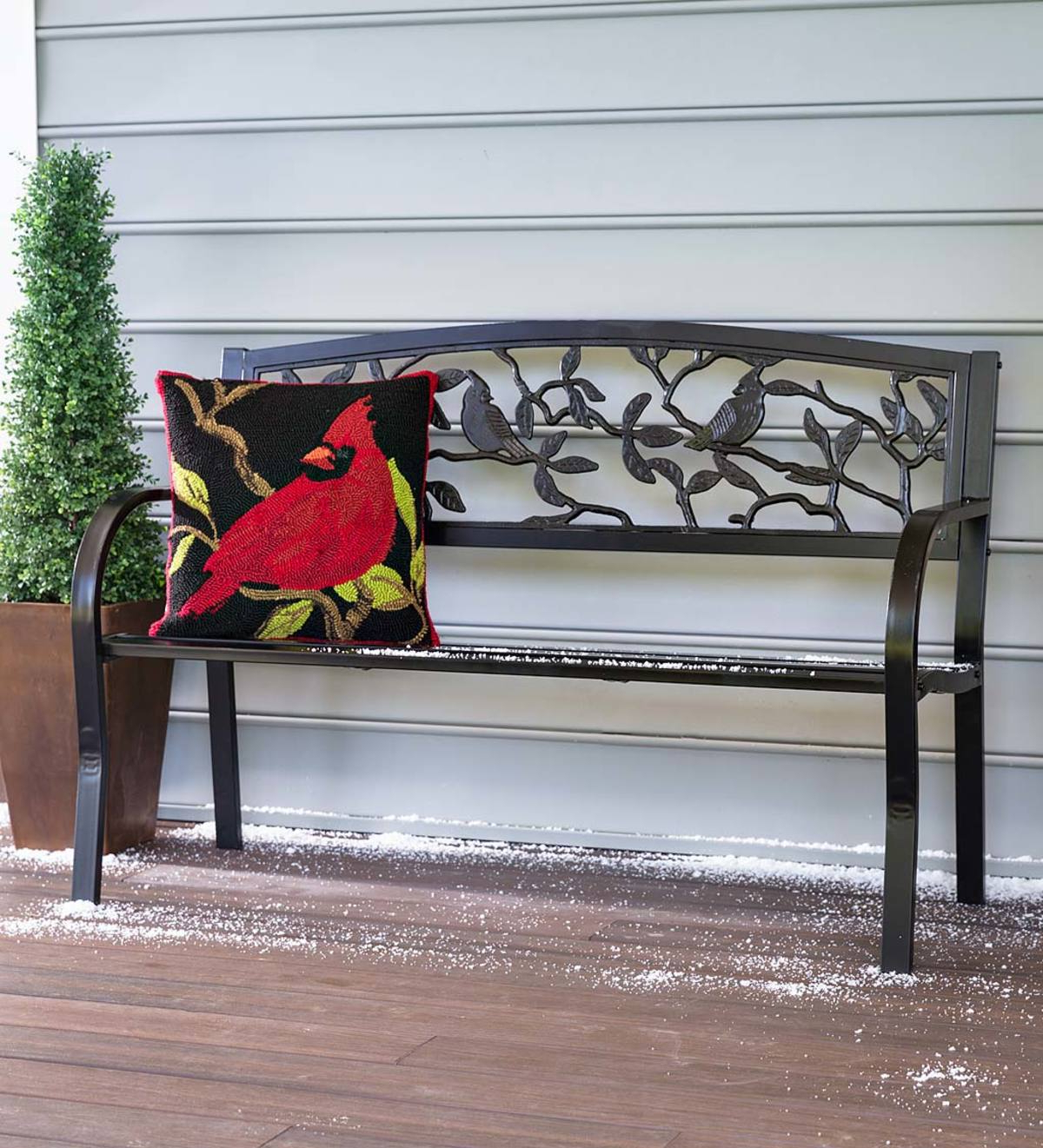 Favorite Cardinals Metal Garden Bench With Flamingo Metal Garden Benches (View 11 of 30)