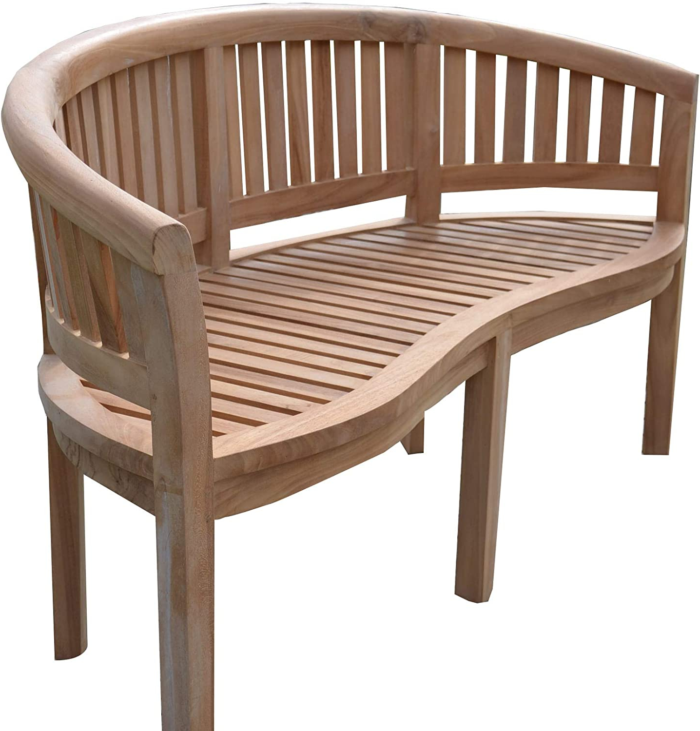 Favorite Field & Hawken – Solid Teak Banana Bench – Banana Garden Bench – 3 Seater  Curved Bench – Assembled Bench (ready To Use) In Manchester Solid Wood Garden Benches (View 30 of 30)