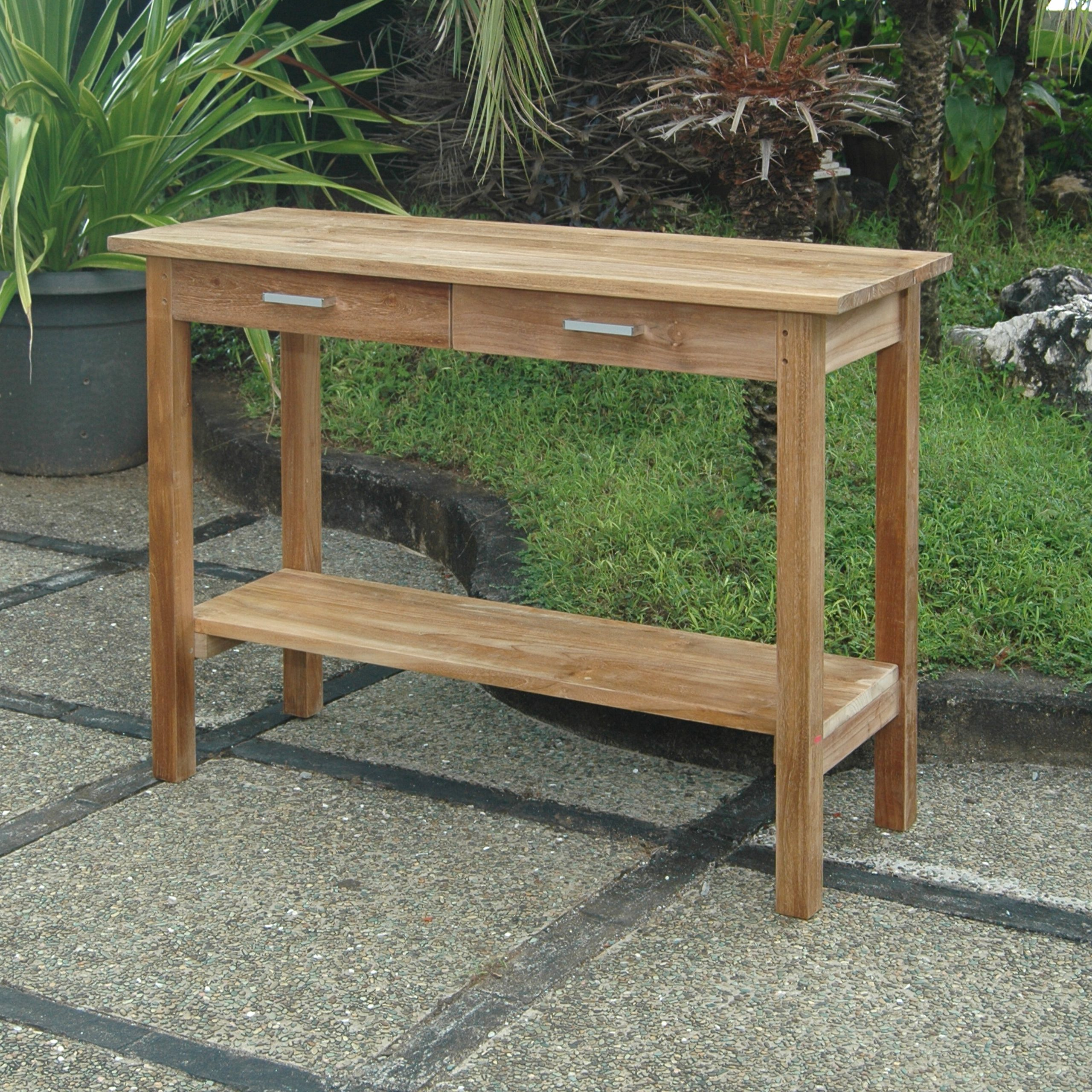 Favorite Modena Solid Wood Bar Table Inside Coleen Outdoor Teak Garden Benches (View 26 of 30)