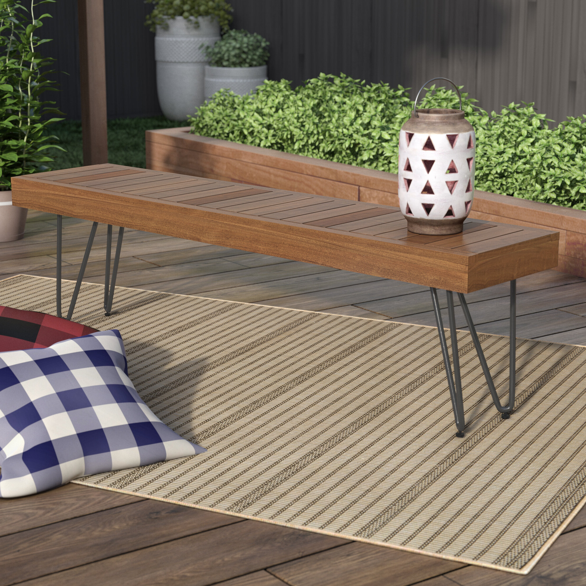 Favorite Outdoor Wooden Picnic Bench With Ossu Iron Picnic Benches (View 5 of 30)