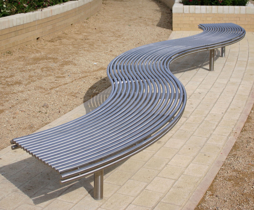 Favorite Pauls Steel Garden Benches With Regard To Centerline Cl007 Contemporary Curved Steel Benches (View 11 of 30)