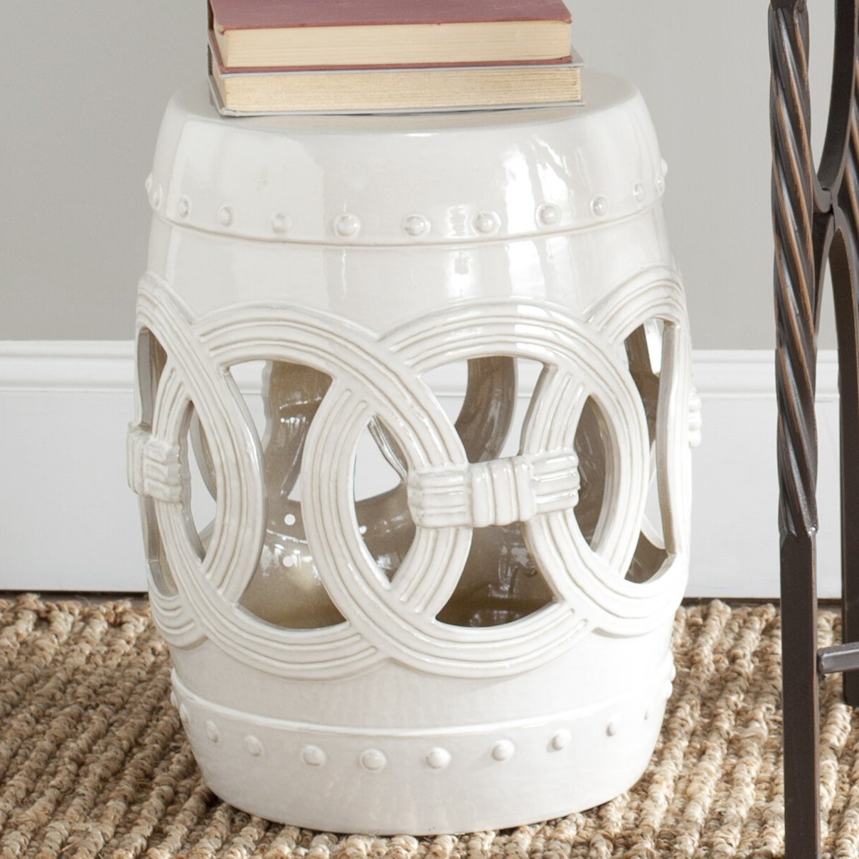 Favorite Tufan Cement Garden Stools Regarding Garden White Accent Stools You'll Love In (View 8 of 30)