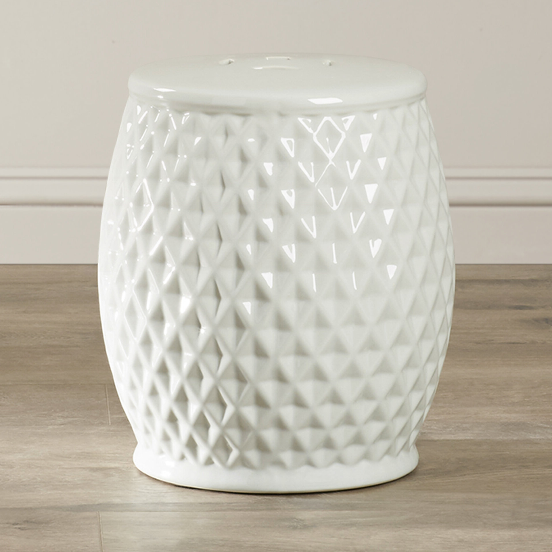 Fonzworth Harlequin Ceramic Garden Stool With Regard To Most Popular Karlov Ceramic Garden Stools (View 15 of 30)