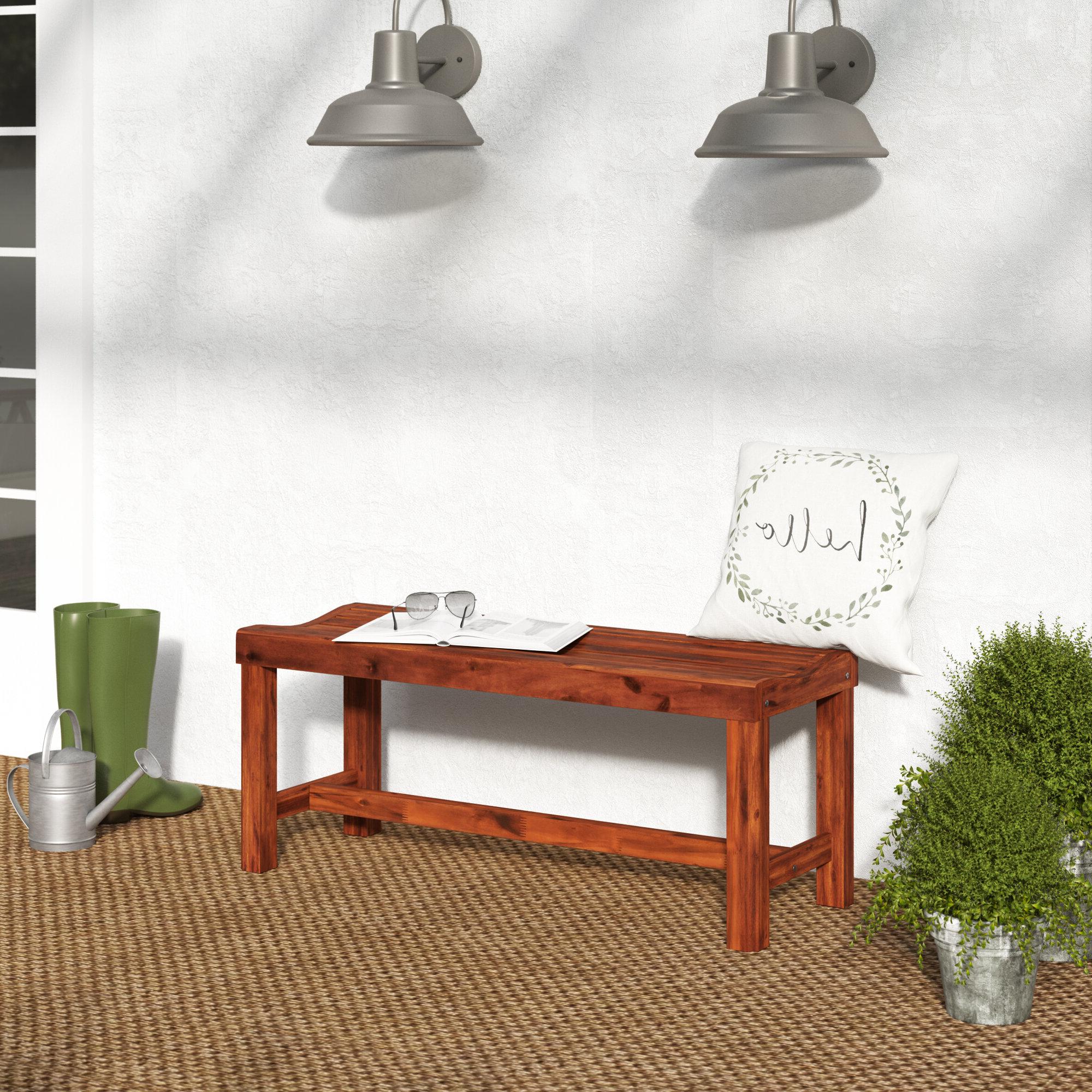 Gabbert Wooden Garden Bench With Regard To Fashionable Gabbert Wooden Garden Benches (View 4 of 30)