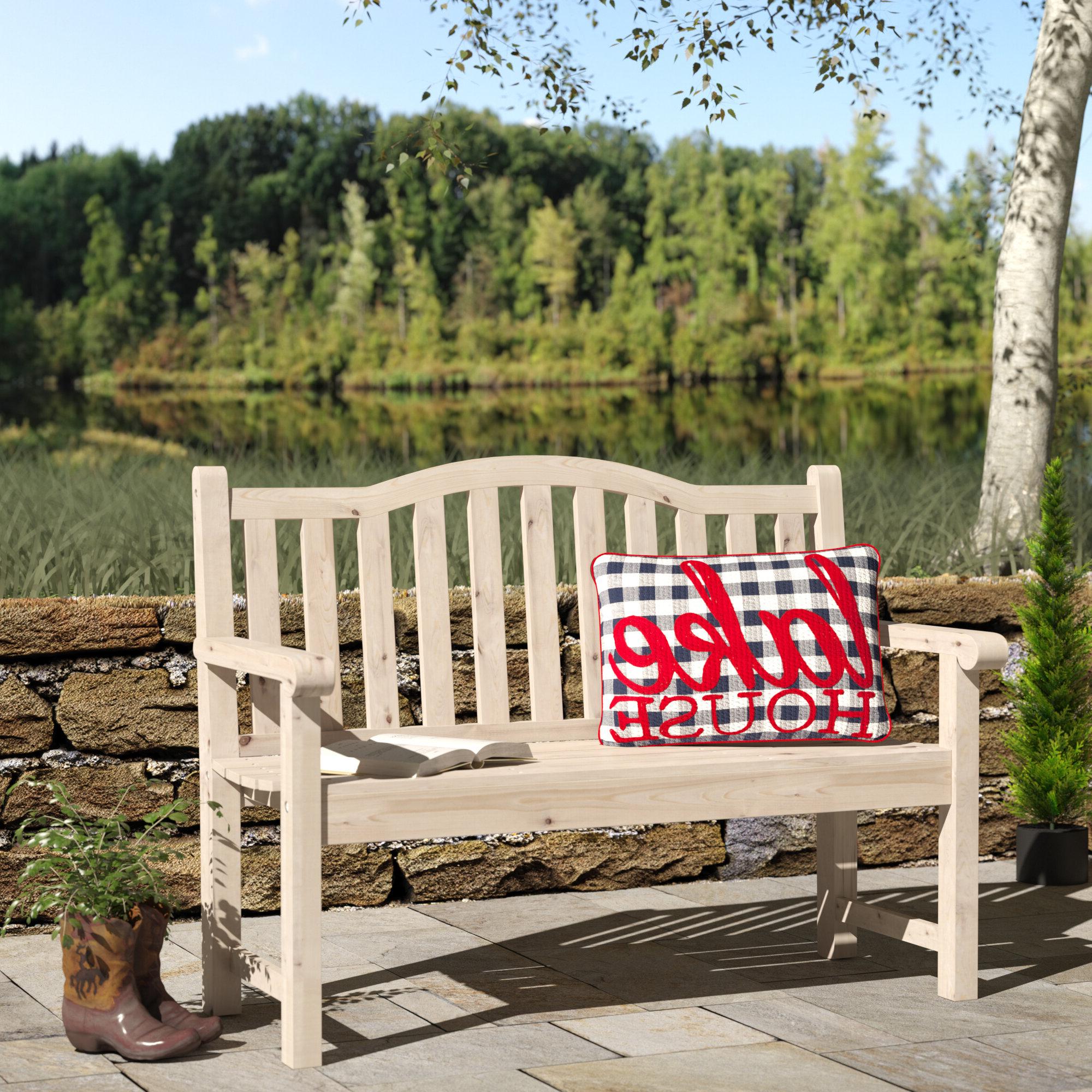 Gabbert Wooden Garden Benches For Famous Embry Wooden Garden Bench (View 12 of 30)