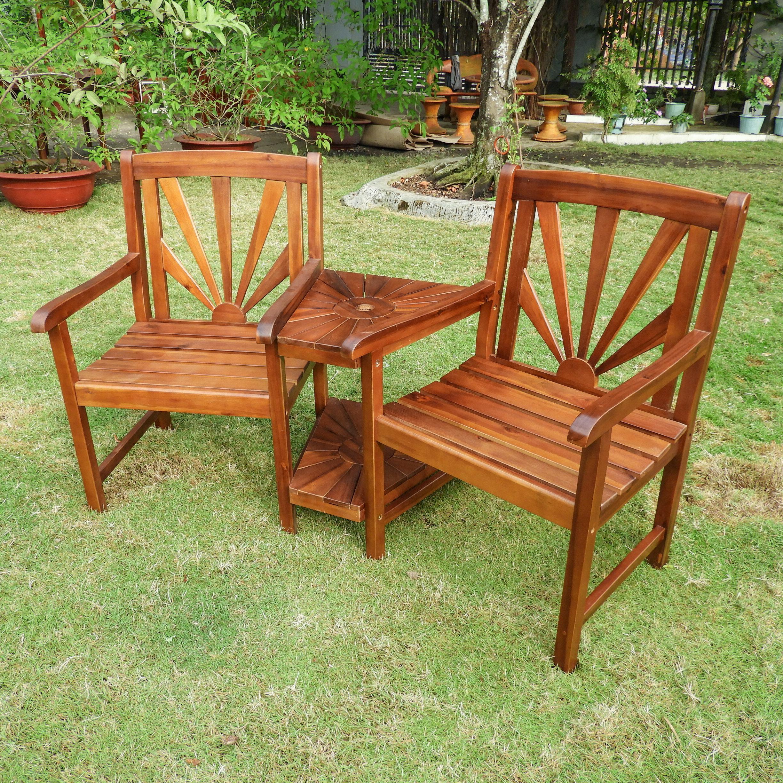 Gabbert Wooden Tete A Tete Bench Pertaining To Well Known Gabbert Wooden Garden Benches (View 6 of 30)