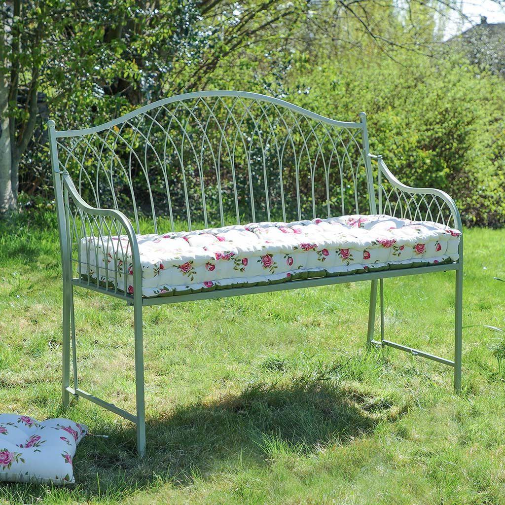 Garden Bench, Metal Throughout Cavin Garden Benches (View 2 of 30)