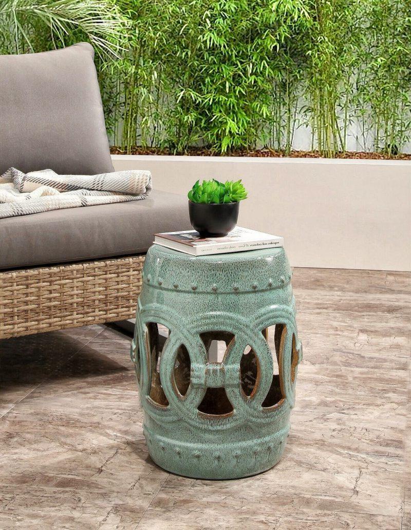 Garden Intended For Favorite Feliciana Ceramic Garden Stools (View 12 of 30)