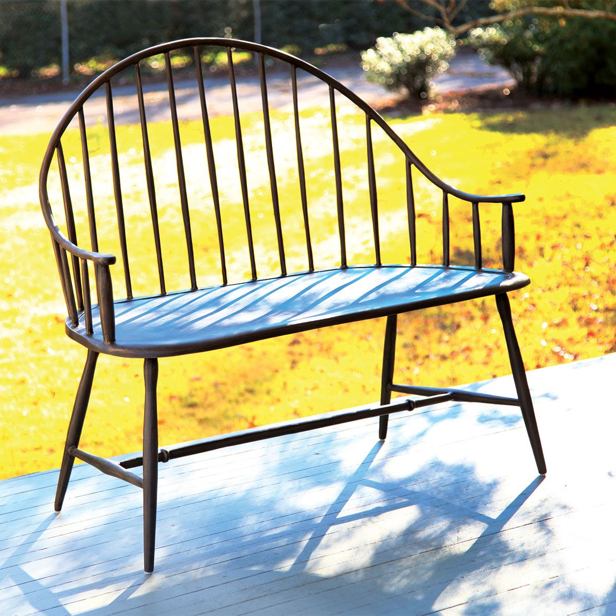 Gehlert Traditional Patio Iron Garden Benches For Most Popular Cast Aluminum Outdoor Settee (View 27 of 30)