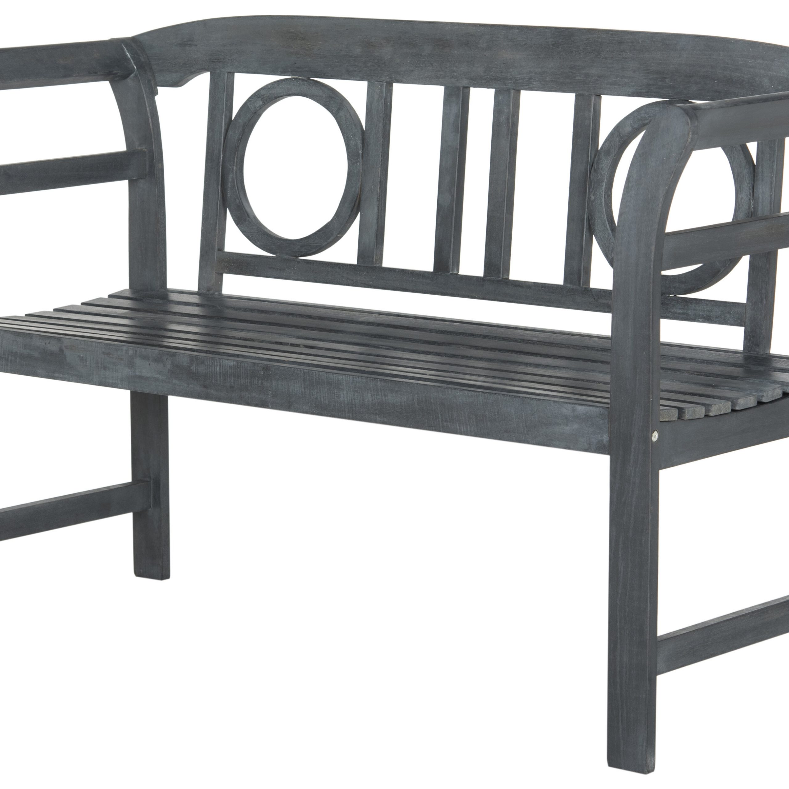 Gehlert Traditional Patio Iron Garden Benches For Newest Brinwood 2 Seat Wooden Garden Bench (View 11 of 30)