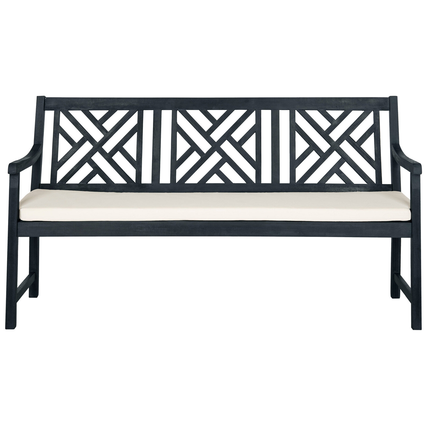 Gehlert Traditional Patio Iron Garden Benches Pertaining To Most Current Stanwich Acacia Garden Bench (View 17 of 30)