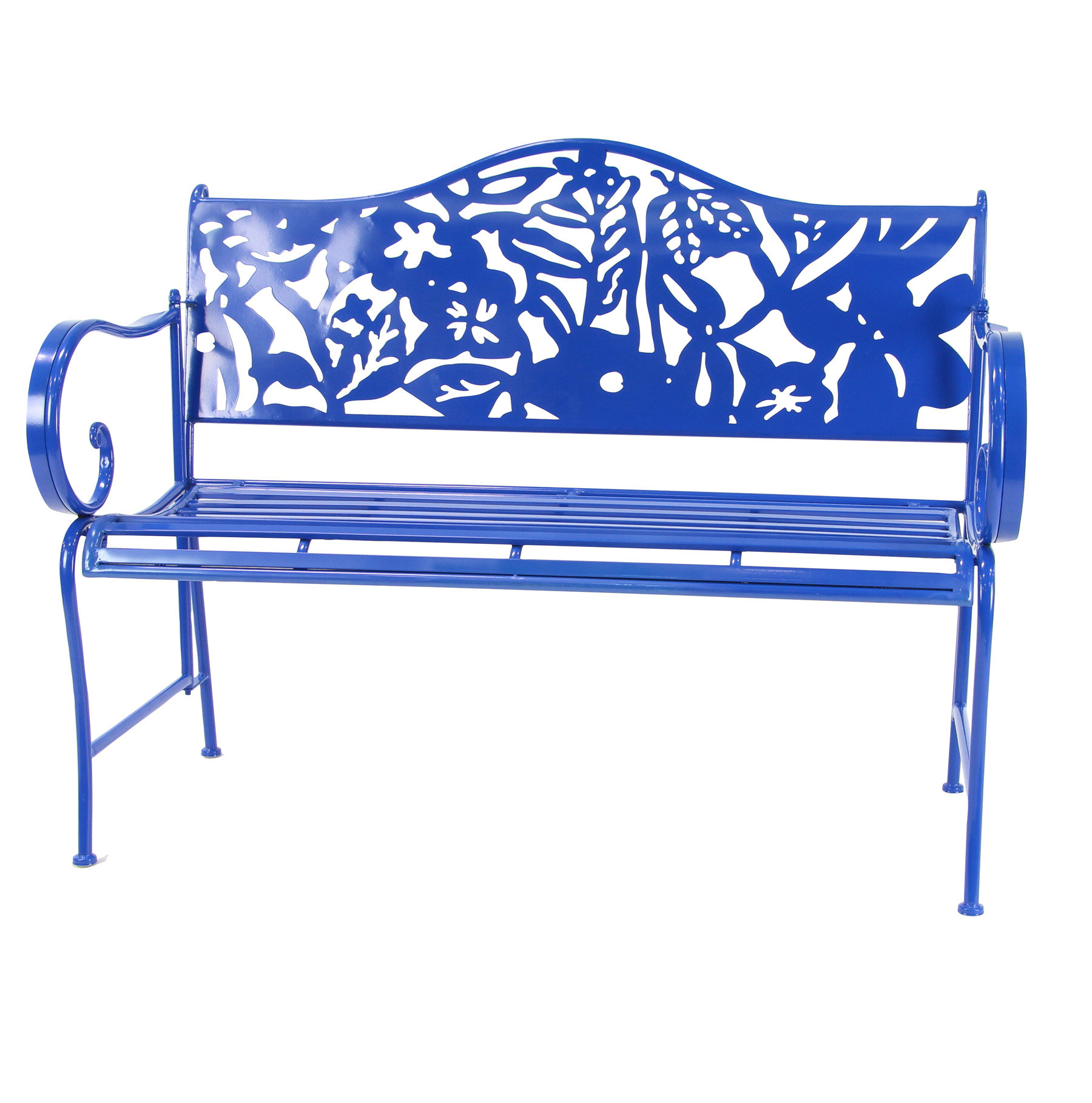 Ginter Iron Garden Bench With Latest Caryn Colored Butterflies Metal Garden Benches (View 9 of 30)