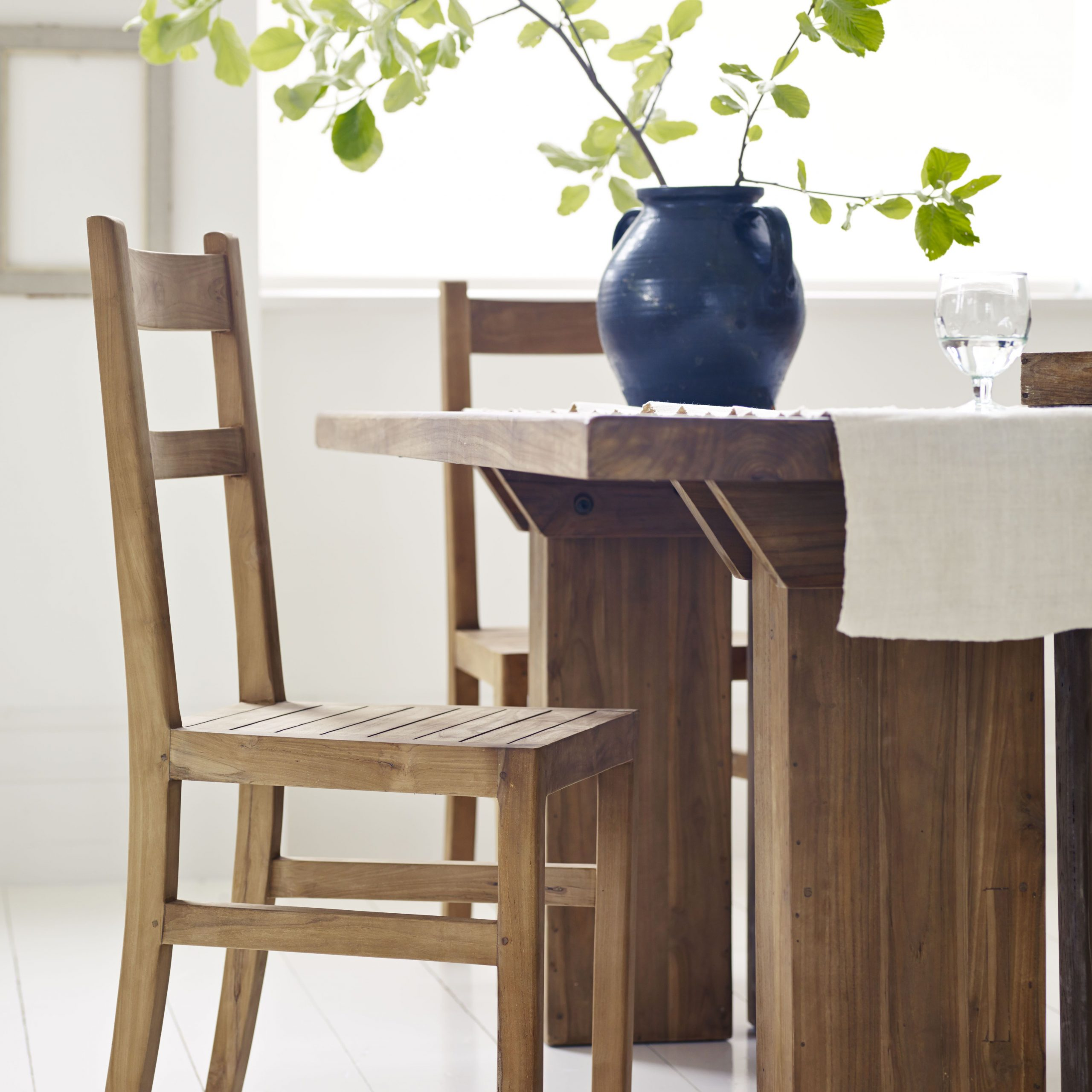 Hampstead Heath Teak Garden Benches In Preferred Tamara Dining Table & Paris Chair – Reclaimed Natural Teak (View 15 of 30)