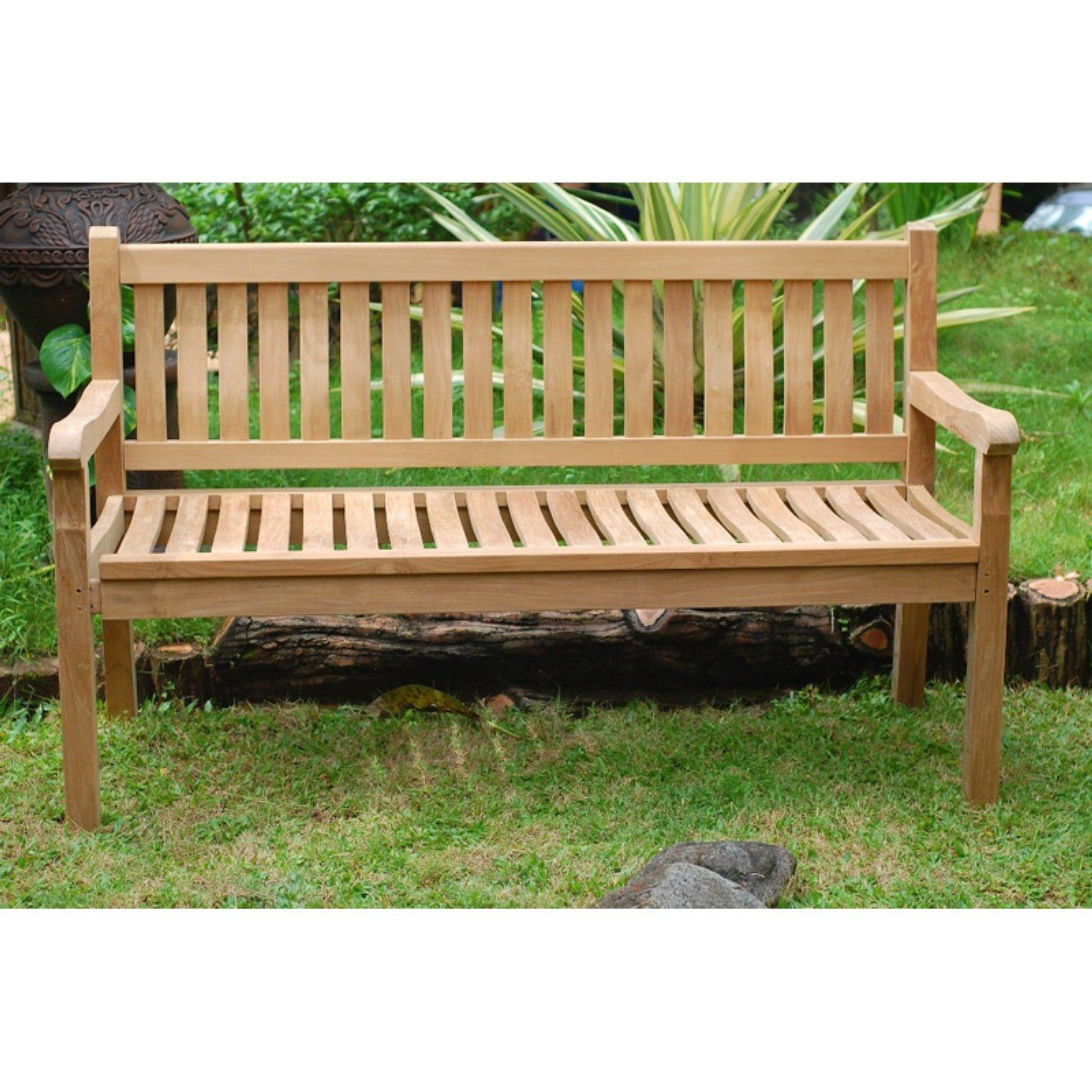 Hampstead Teak Garden Benches For Best And Newest Windsor Teak Furniture Outdoor Bench With Contoured Seat (View 5 of 30)