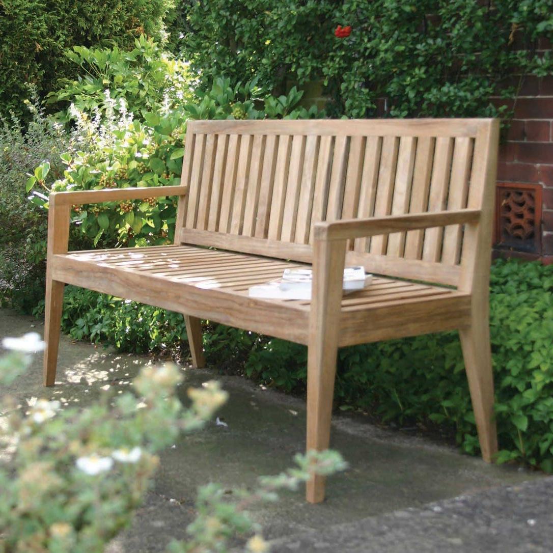 Hampstead Teak Garden Benches Regarding Most Current Menton Outdoor Bench (View 21 of 30)