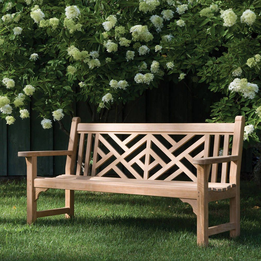 Harpersfield Wooden Garden Benches With Most Current Kingsley Bate Chippendale 5' Bench In (View 11 of 30)