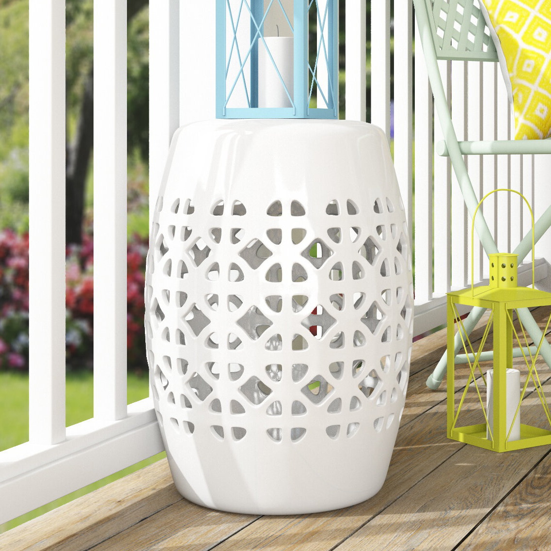 Harwich Ceramic Garden Stools With Most Recently Released Dreyer Ceramic Garden Stool (View 5 of 30)