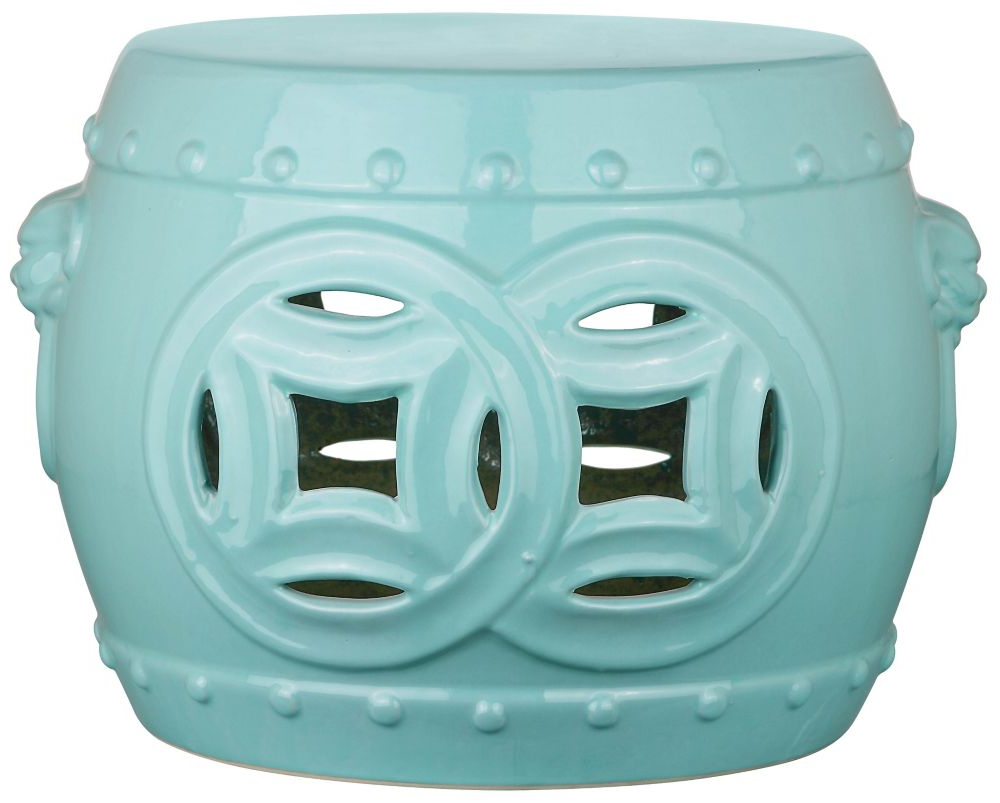 Harwich Ceramic Garden Stools With Regard To Trendy Mei Double Coin Garden Stool In Light Blue (View 24 of 30)