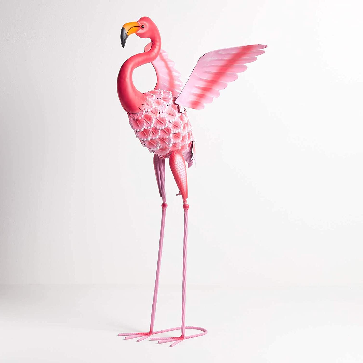 [%homescapes Metal Garden Bright Pink Flamingo Statue With Raised Wings And Detailed Feathers Handcrafted From 100% Iron Free Standing Lawn Ornament With Regard To Preferred Flamingo Metal Garden Benches|flamingo Metal Garden Benches With Regard To 2020 Homescapes Metal Garden Bright Pink Flamingo Statue With Raised Wings And Detailed Feathers Handcrafted From 100% Iron Free Standing Lawn Ornament|well Known Flamingo Metal Garden Benches In Homescapes Metal Garden Bright Pink Flamingo Statue With Raised Wings And Detailed Feathers Handcrafted From 100% Iron Free Standing Lawn Ornament|fashionable Homescapes Metal Garden Bright Pink Flamingo Statue With Raised Wings And Detailed Feathers Handcrafted From 100% Iron Free Standing Lawn Ornament With Flamingo Metal Garden Benches%] (View 3 of 30)