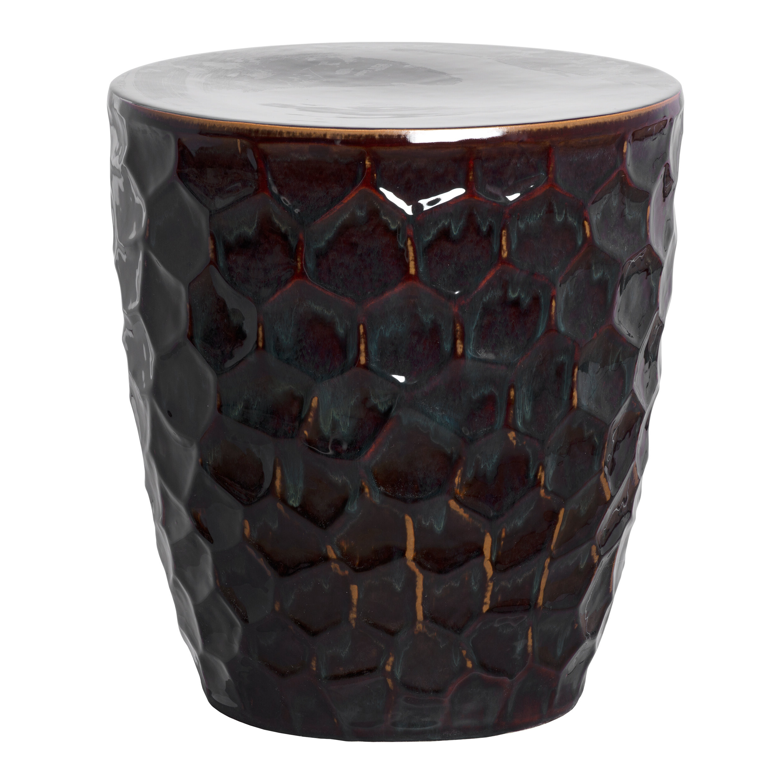 Honeycomb Garden Stool Throughout Most Popular Fifi Ceramic Garden Stools (View 10 of 30)