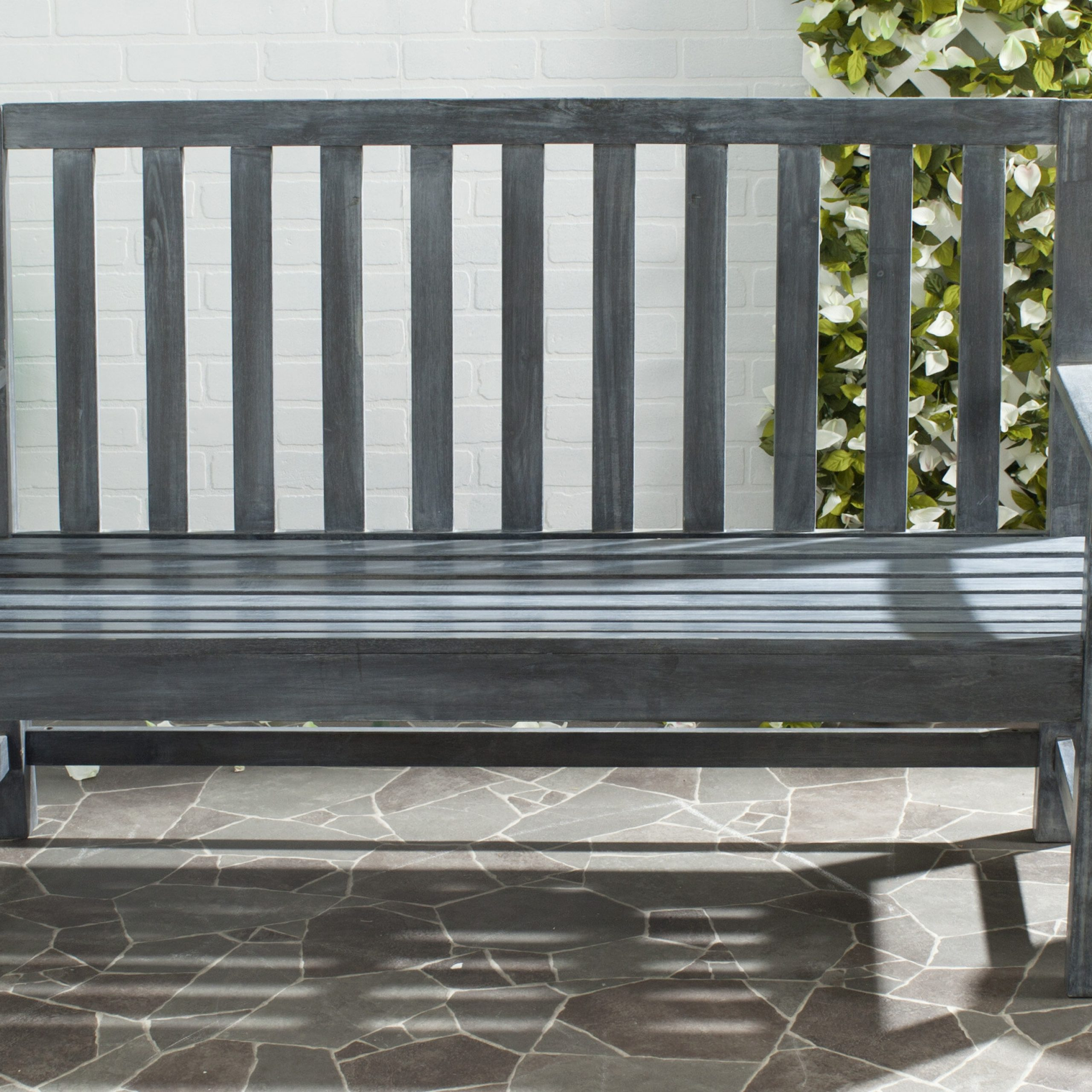 Indaka Acacia Wood Garden Bench Intended For Widely Used Harpersfield Wooden Garden Benches (View 10 of 30)