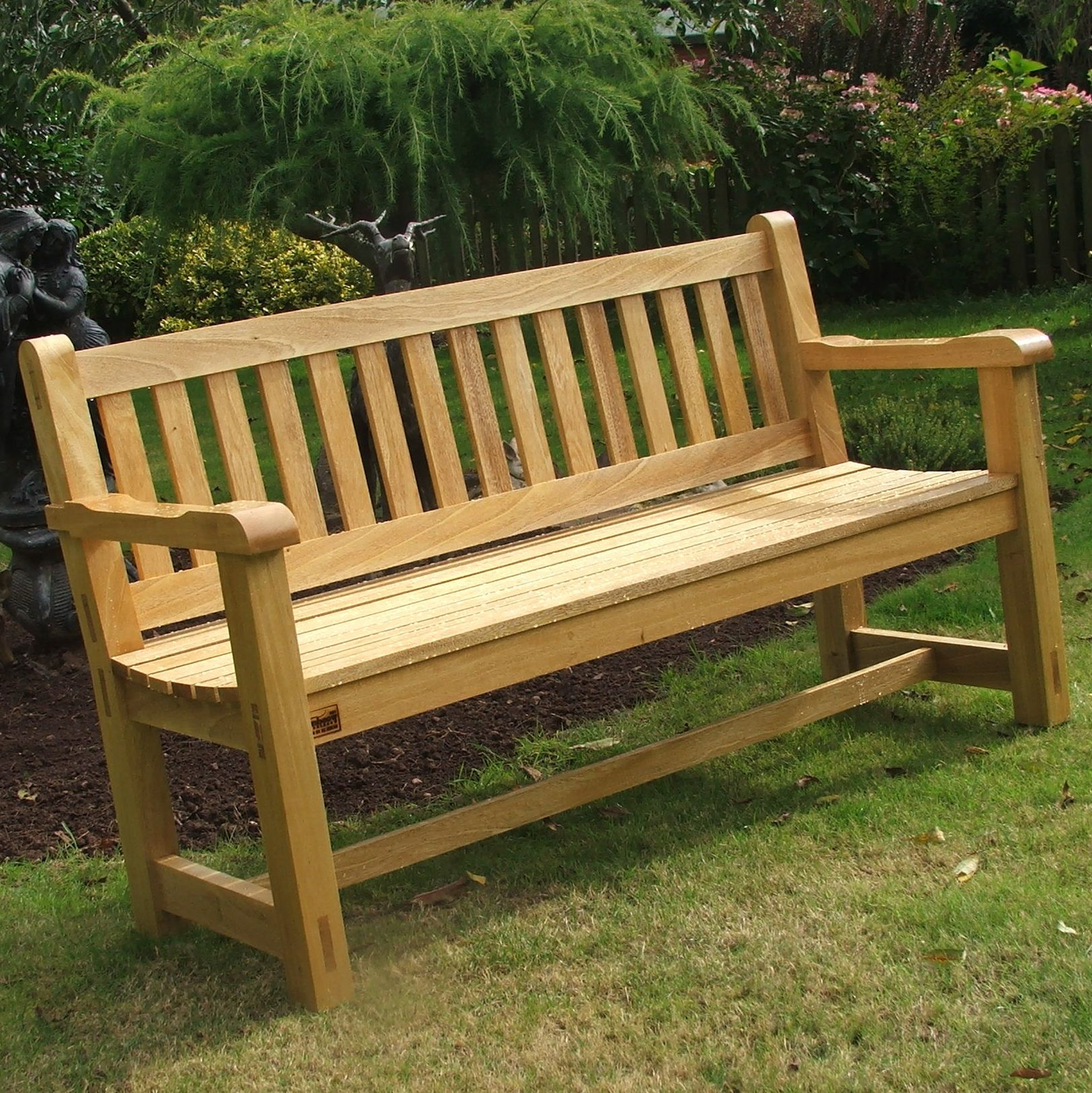 Inspiring Wooden Garden Benches #2 Wooden Garden Bench Throughout Latest Coleen Outdoor Teak Garden Benches (View 3 of 30)
