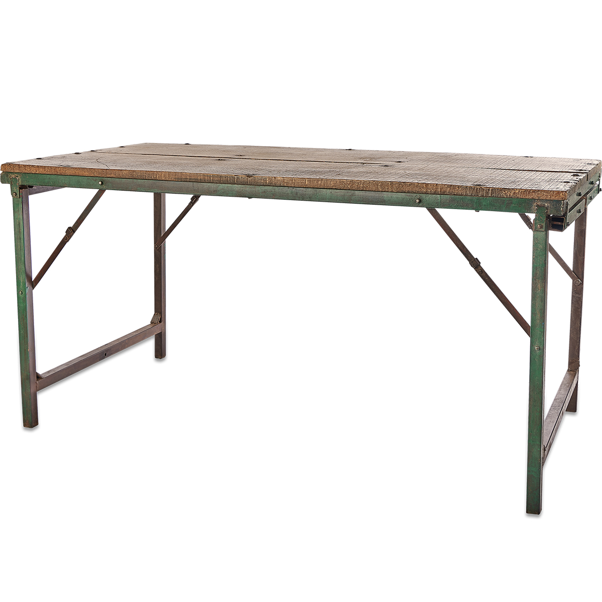 Ishan Reclaimed Folding Dining/coffee Table Intended For Famous Ishan Steel Park Benches (View 22 of 30)