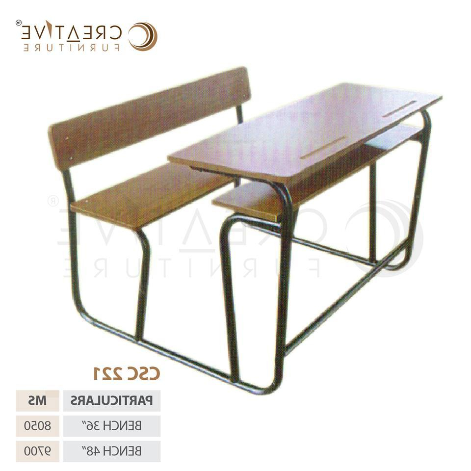 Ishan Steel Park Benches With Favorite Creative Furniture Brown Wooden Steel Table, Rs 8050 /piece (View 19 of 30)