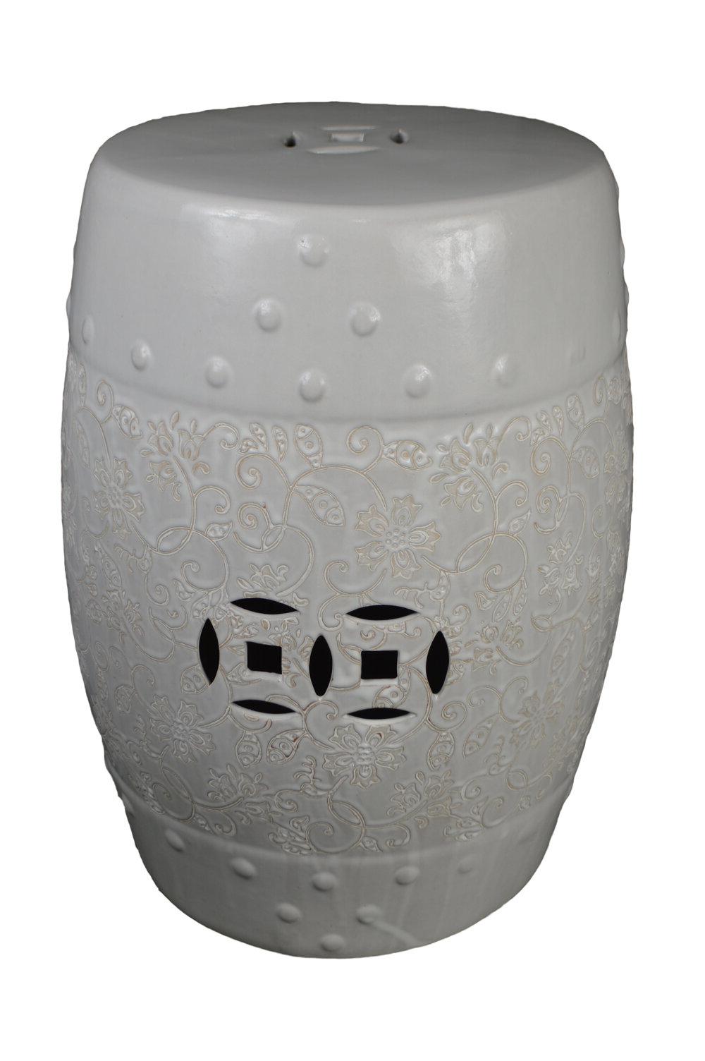 Iyanna Ceramic Garden Stool Throughout Famous Bonville Ceramic Garden Stools (View 17 of 30)