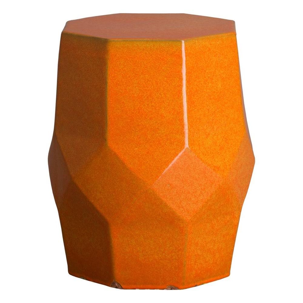 Jadiel Ceramic Garden Stools With Regard To Fashionable Bright Orange Octagon Matrix Garden Stool – Seven Colonial (View 6 of 30)