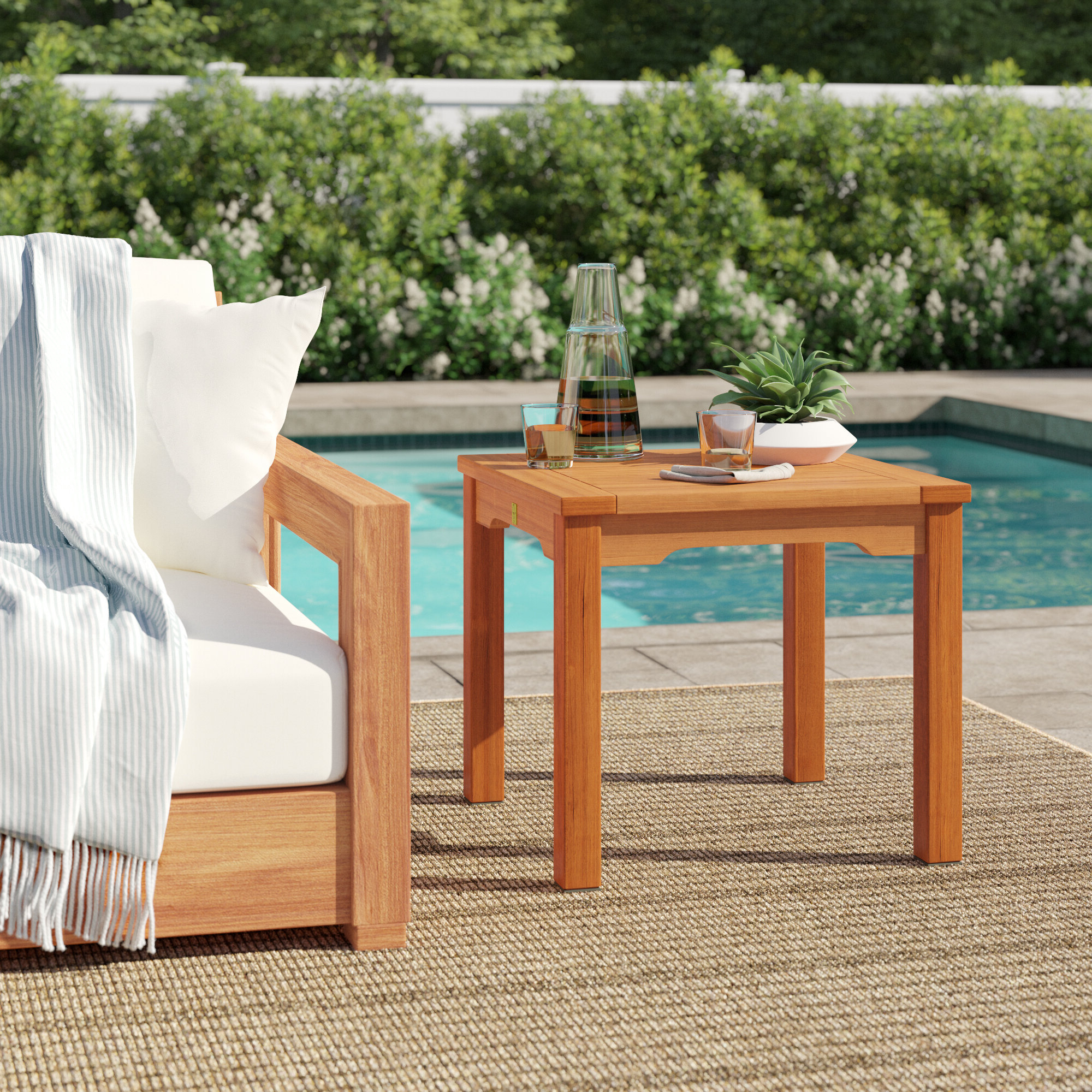 Jeff Solid Wood Side Table In Most Recent Harpersfield Wooden Garden Benches (View 16 of 30)
