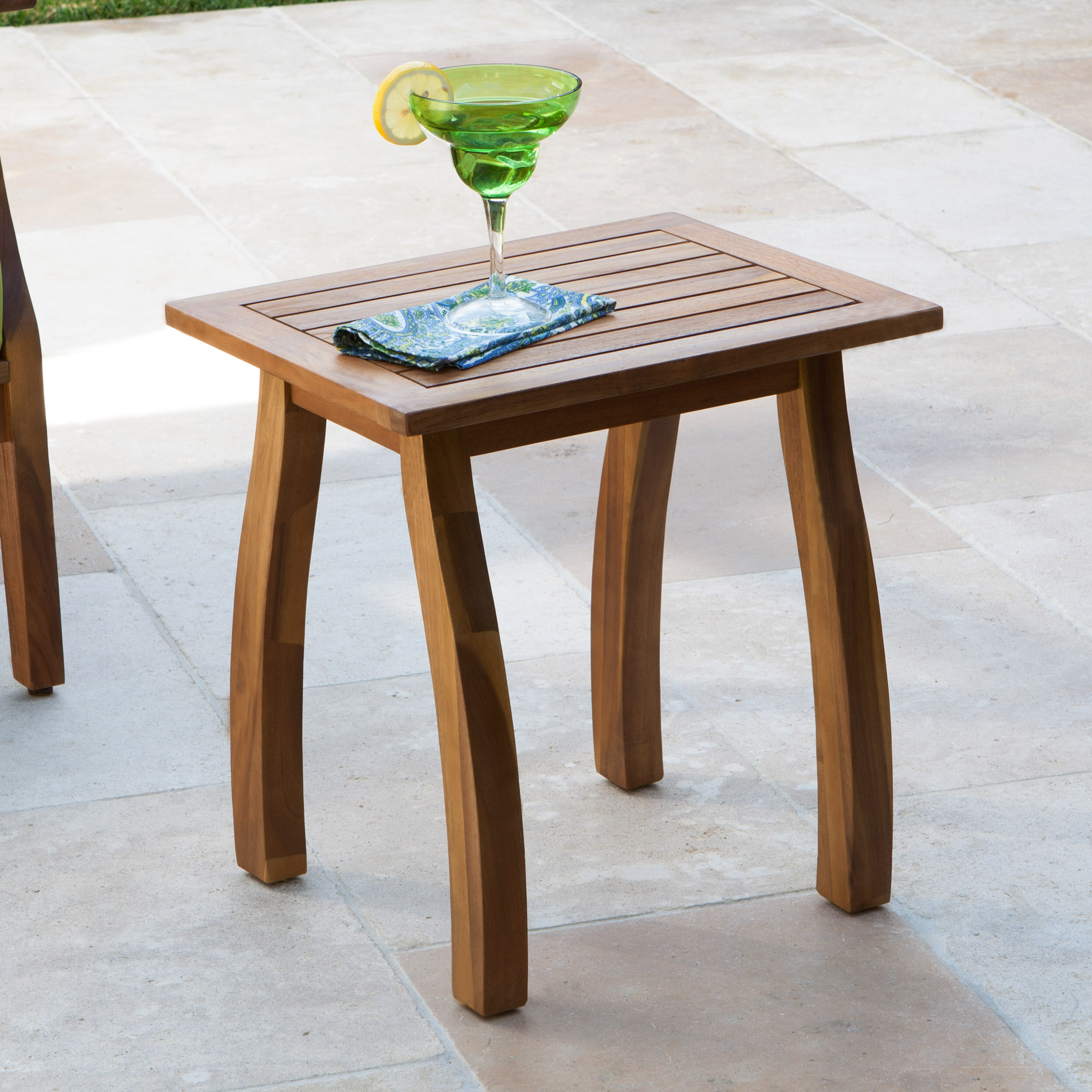 Keegan Solid Wood Side Table With Most Up To Date Harpersfield Wooden Garden Benches (View 19 of 30)